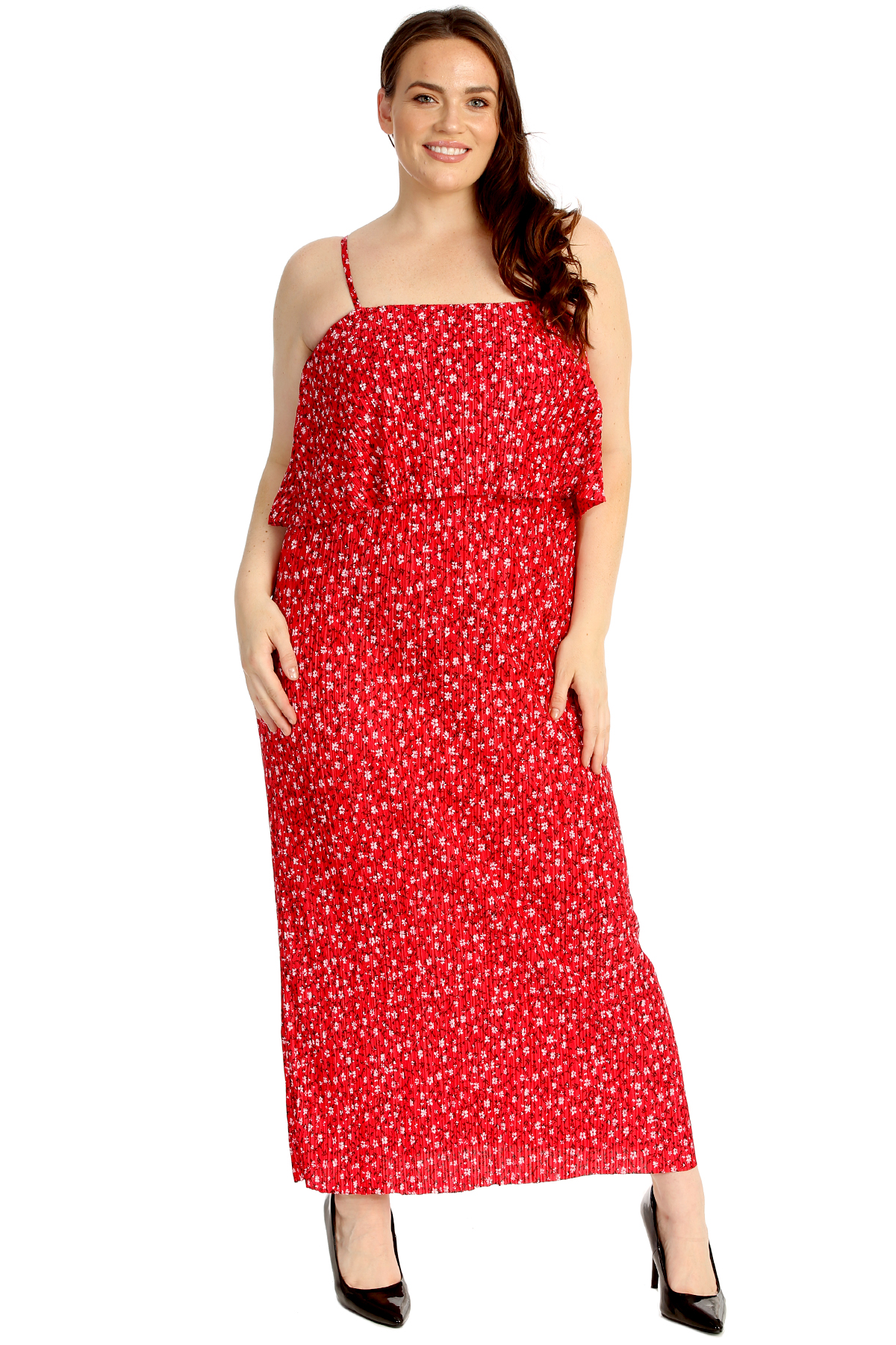 Details about New Ladies Plus Size Maxi Dress Womens Sleeveless Long Small  Floral Print Party
