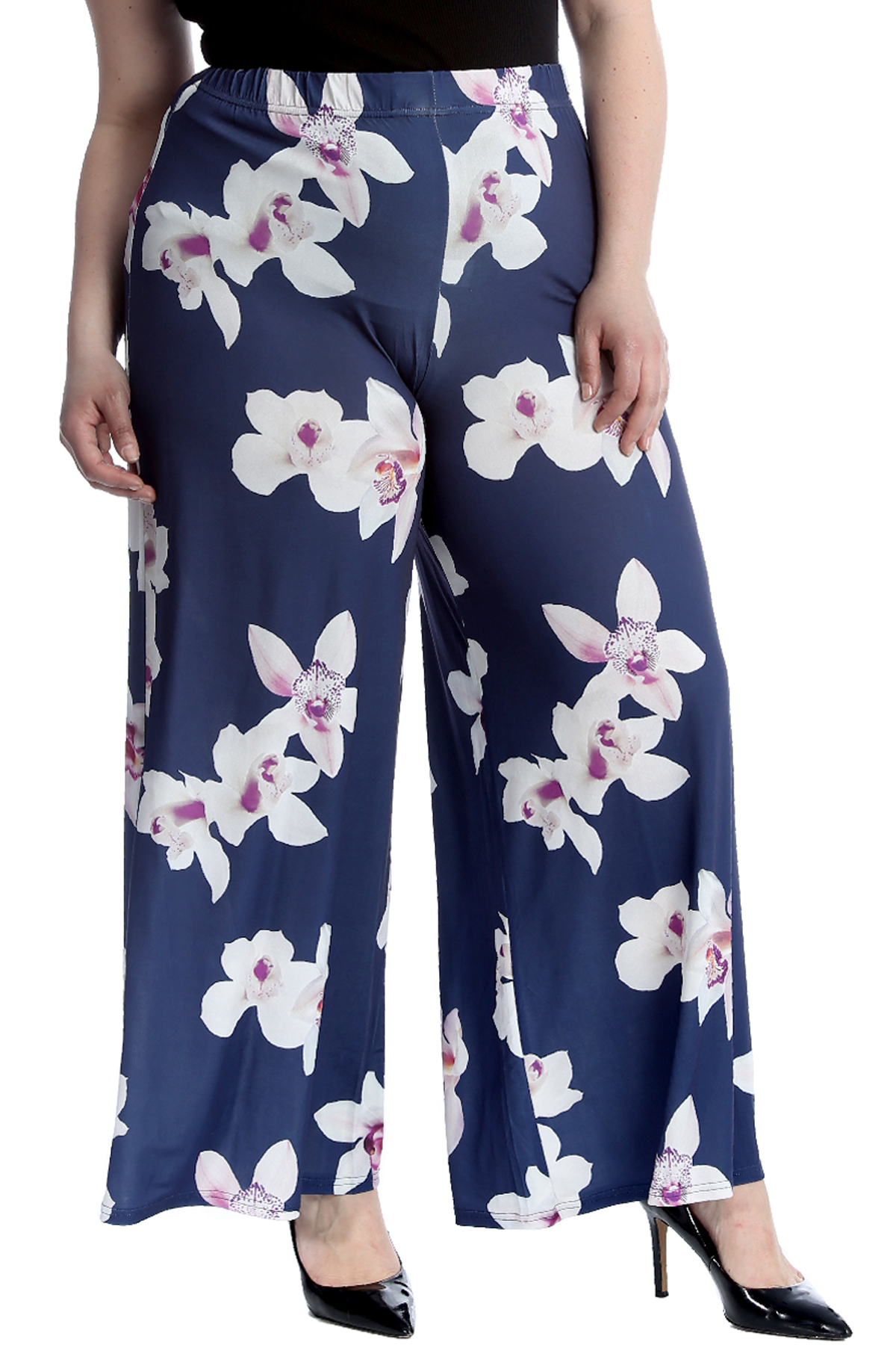 Womens Printed Ladies Palazzo Narrow/&Wide Leg Flare Full Length Trousers Pants