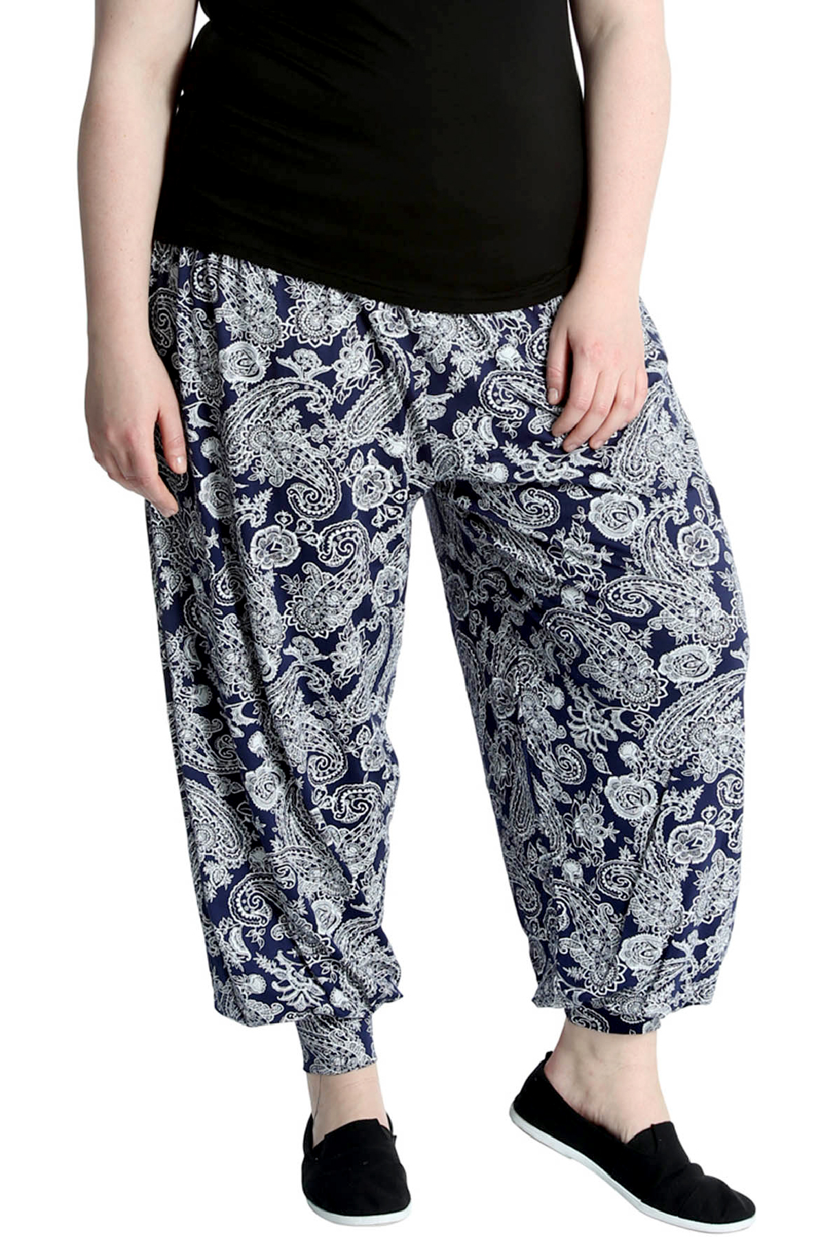 61af79e92d4 Details about New Womens Paisley Print Plus Size Ladies Harem Ali Baba  Trouser Cuffed Nouvelle