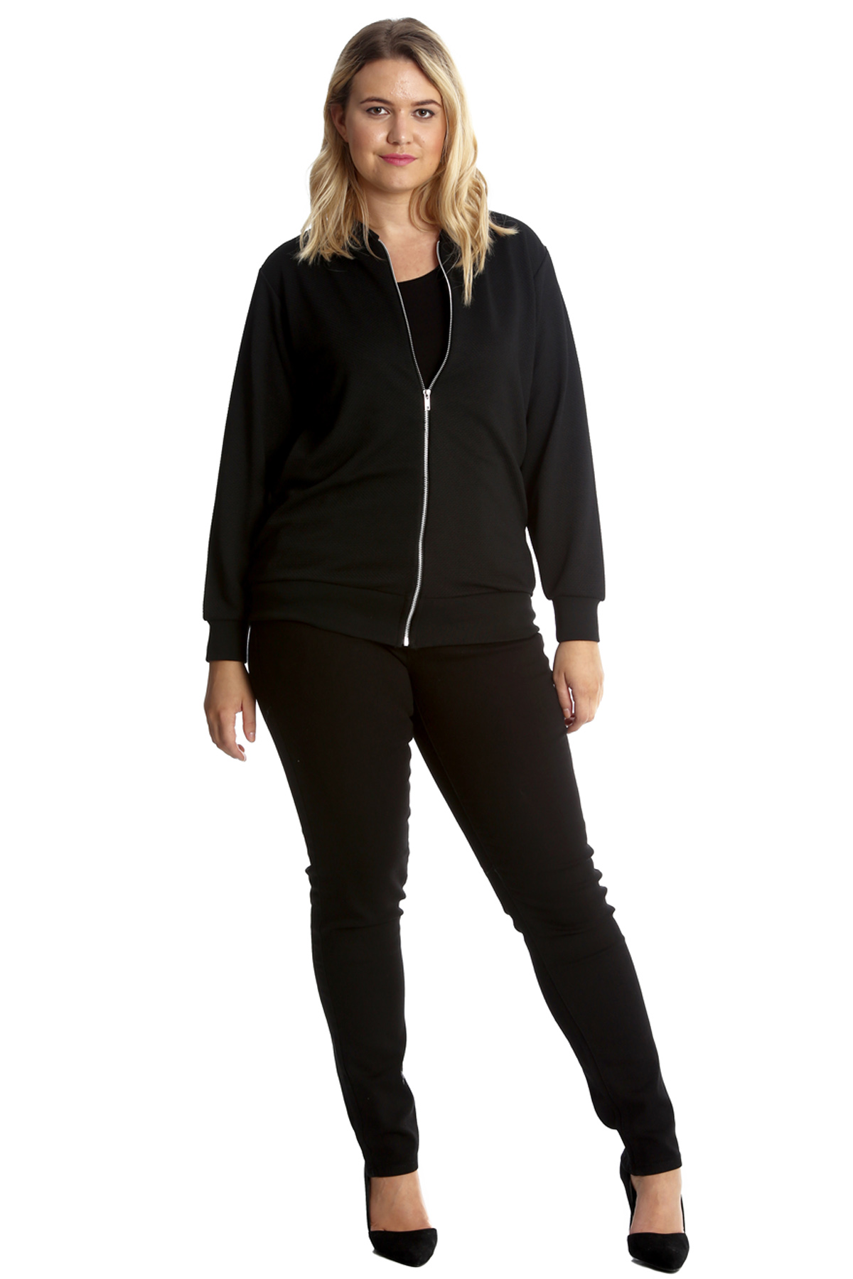 New Womens Plus Size Bomber Jacket Ladies Eiffel Tower ...