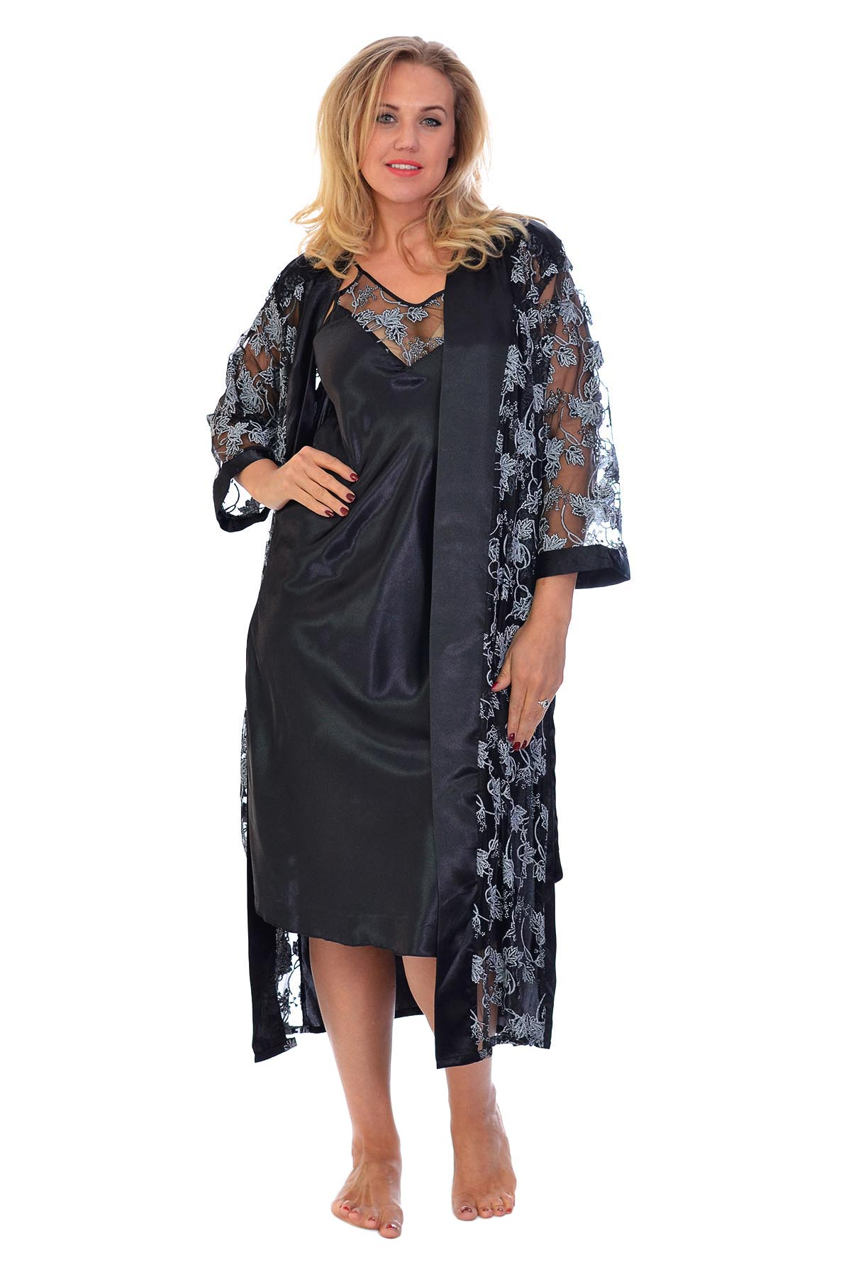 New Womens Plus Size Floral Night Suit Ladies Gown Slip
