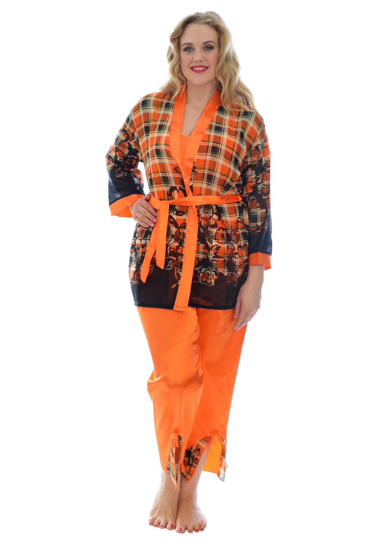 neue frauen satin schlafanzug damen kleiderschein blumen tartan druck nachthemd ebay. Black Bedroom Furniture Sets. Home Design Ideas