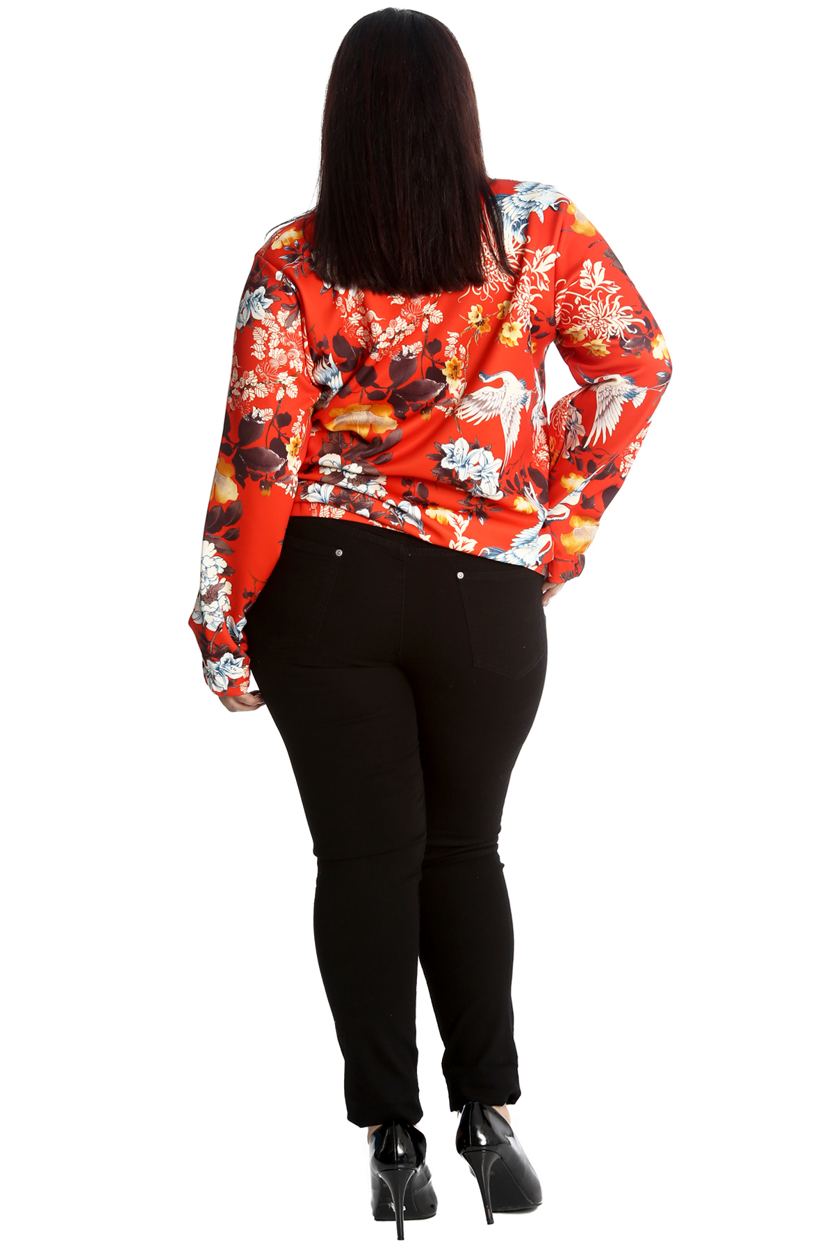 New Womens Plus Size Bomber Jacket Ladies Oriental Chinese