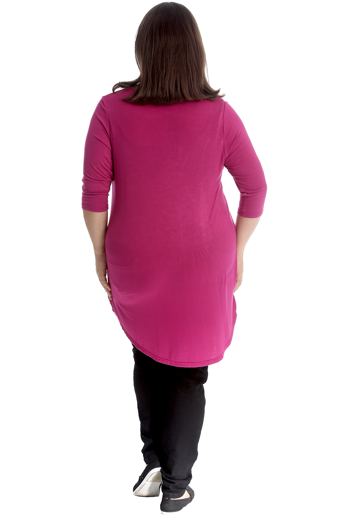 Ladies Top Plus Size Womens Studded Christmas Xmas Tree Dip Hem Shirt Nouvelle