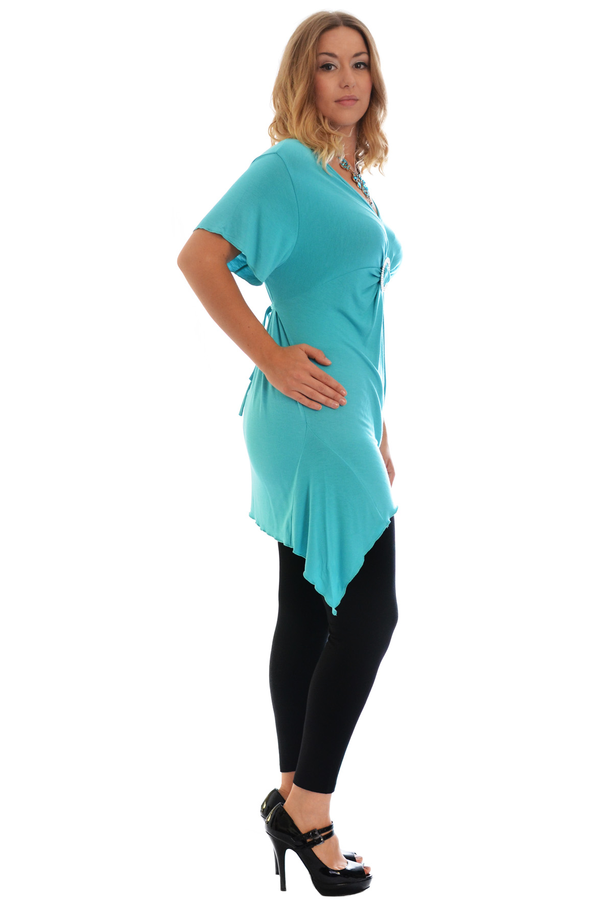 New-Womens-Plus-Size-Top-Ladies-T-Shirt-Buckle-Stud-A-Line-Asymmetric-Nouvelle thumbnail 69