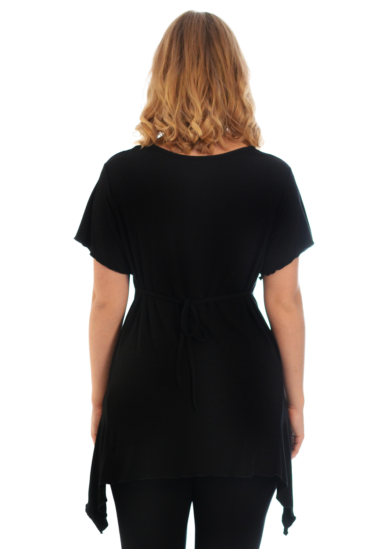 New-Womens-Plus-Size-Top-Ladies-T-Shirt-Buckle-Stud-A-Line-Asymmetric-Nouvelle thumbnail 14