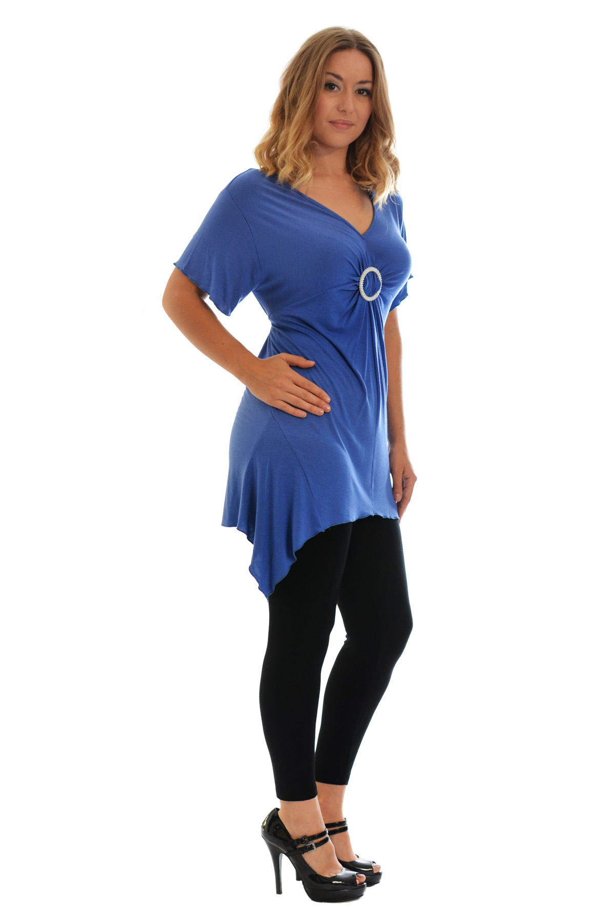 New-Womens-Plus-Size-Top-Ladies-T-Shirt-Buckle-Stud-A-Line-Asymmetric-Nouvelle thumbnail 72
