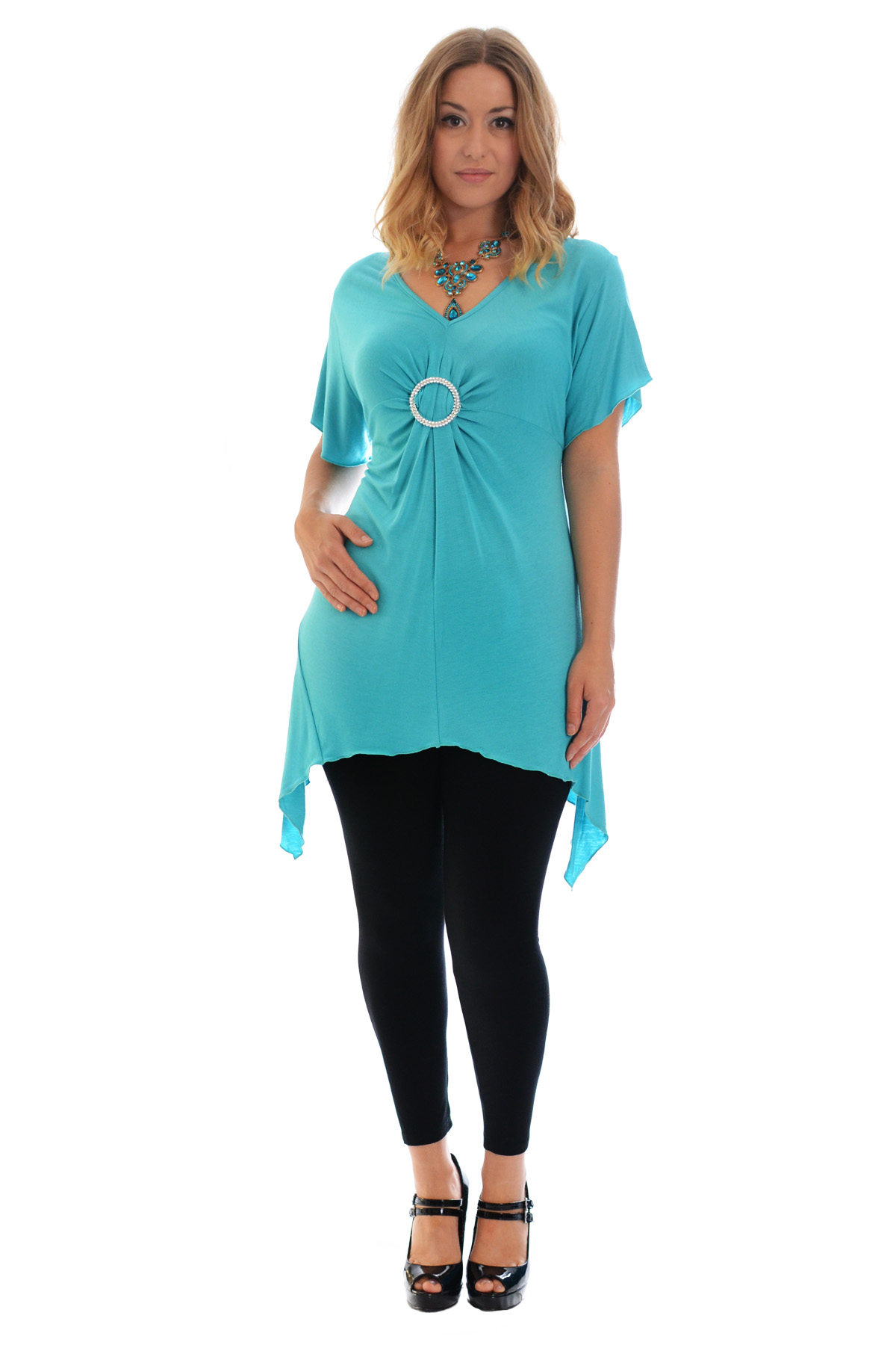 New-Womens-Plus-Size-Top-Ladies-T-Shirt-Buckle-Stud-A-Line-Asymmetric-Nouvelle thumbnail 70