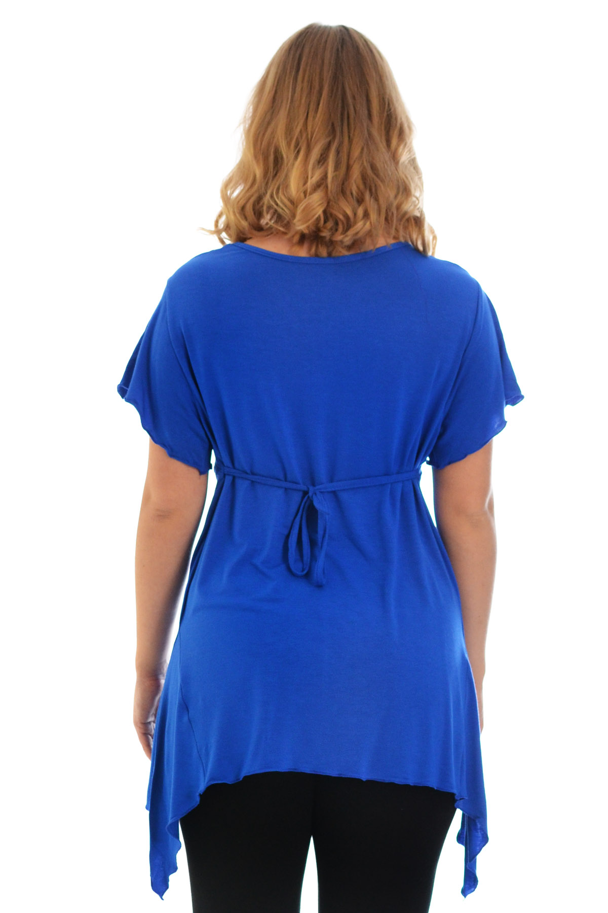 New-Womens-Plus-Size-Top-Ladies-T-Shirt-Buckle-Stud-A-Line-Asymmetric-Nouvelle thumbnail 26