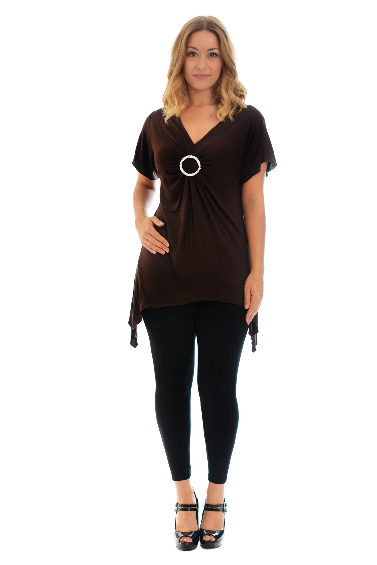 New-Womens-Plus-Size-Top-Ladies-T-Shirt-Buckle-Stud-A-Line-Asymmetric-Nouvelle thumbnail 48