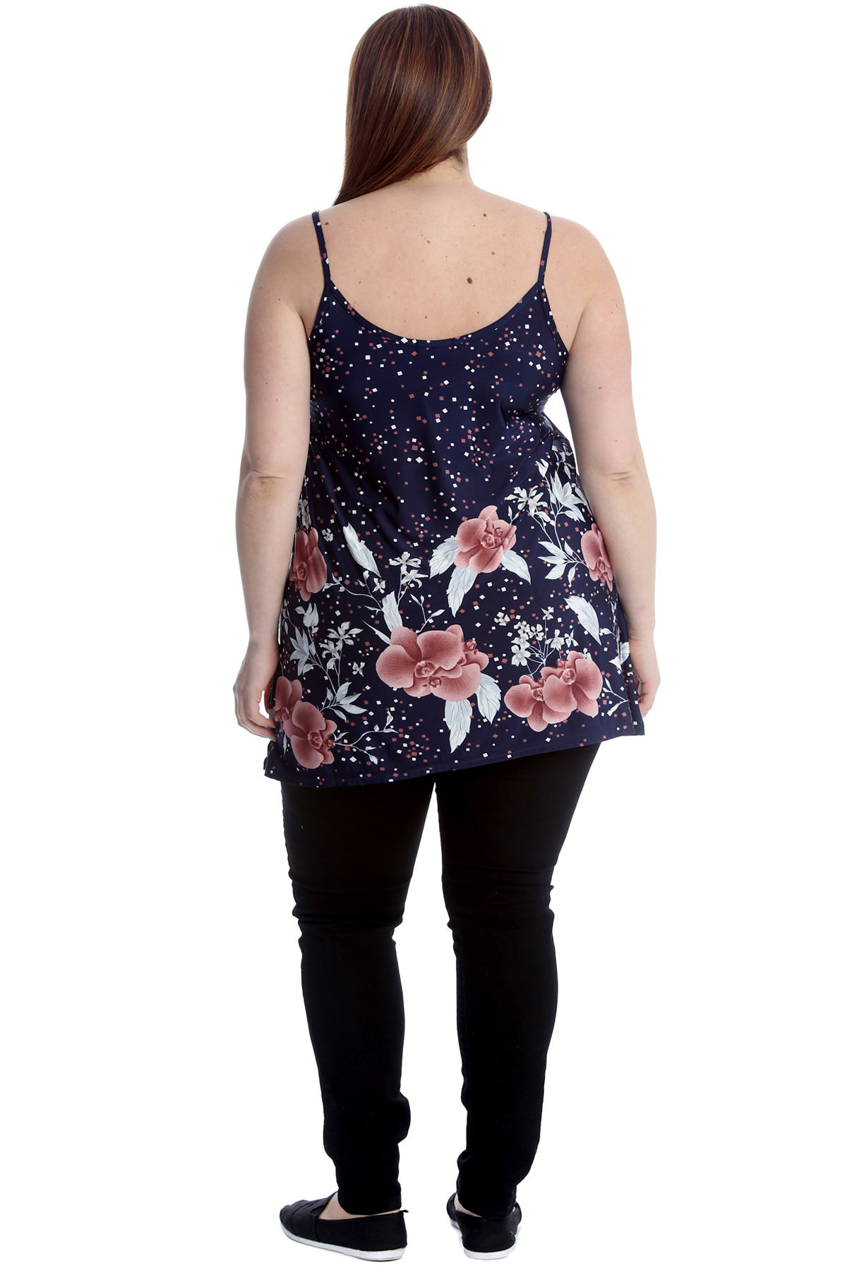 897feaac6367 Womens Cami Top Ladies Plus Size Thin Strappy Swing Vest Printed Floral  Flared Women's Clothing Camisoles ...