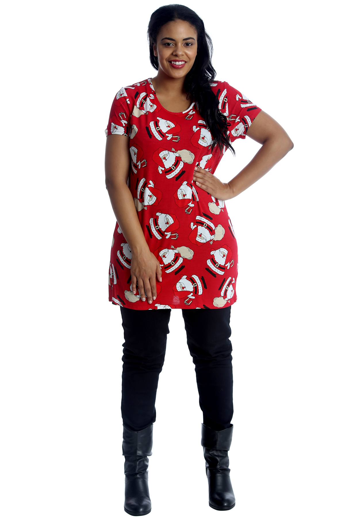 New ladies top plus size t shirt womens santa bag for Holiday t shirt bags