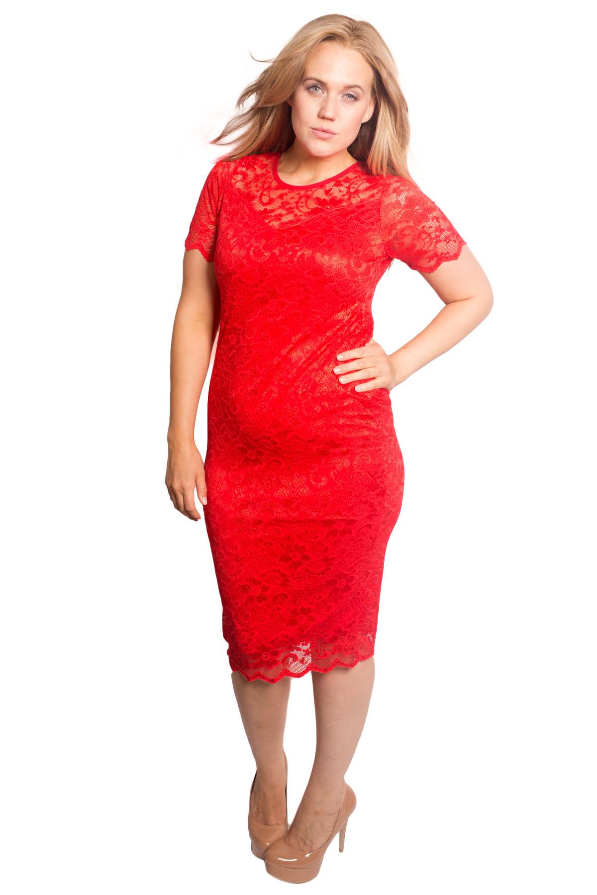 New Womens Dress Ladies Plus Size Bodycon Lace Sweetheart Midi Party Nouvelle