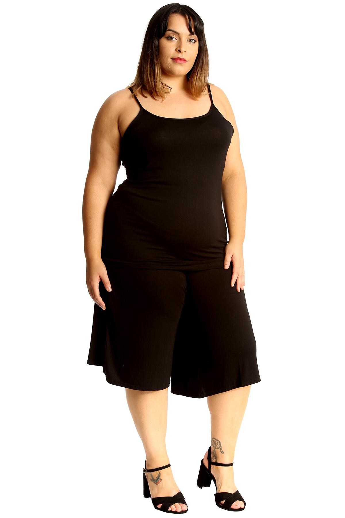 New-Womens-Plus-Size-Culottes-Ladies-Plain-Shorts-Palazzo-Elastic-Pants-Summer thumbnail 15