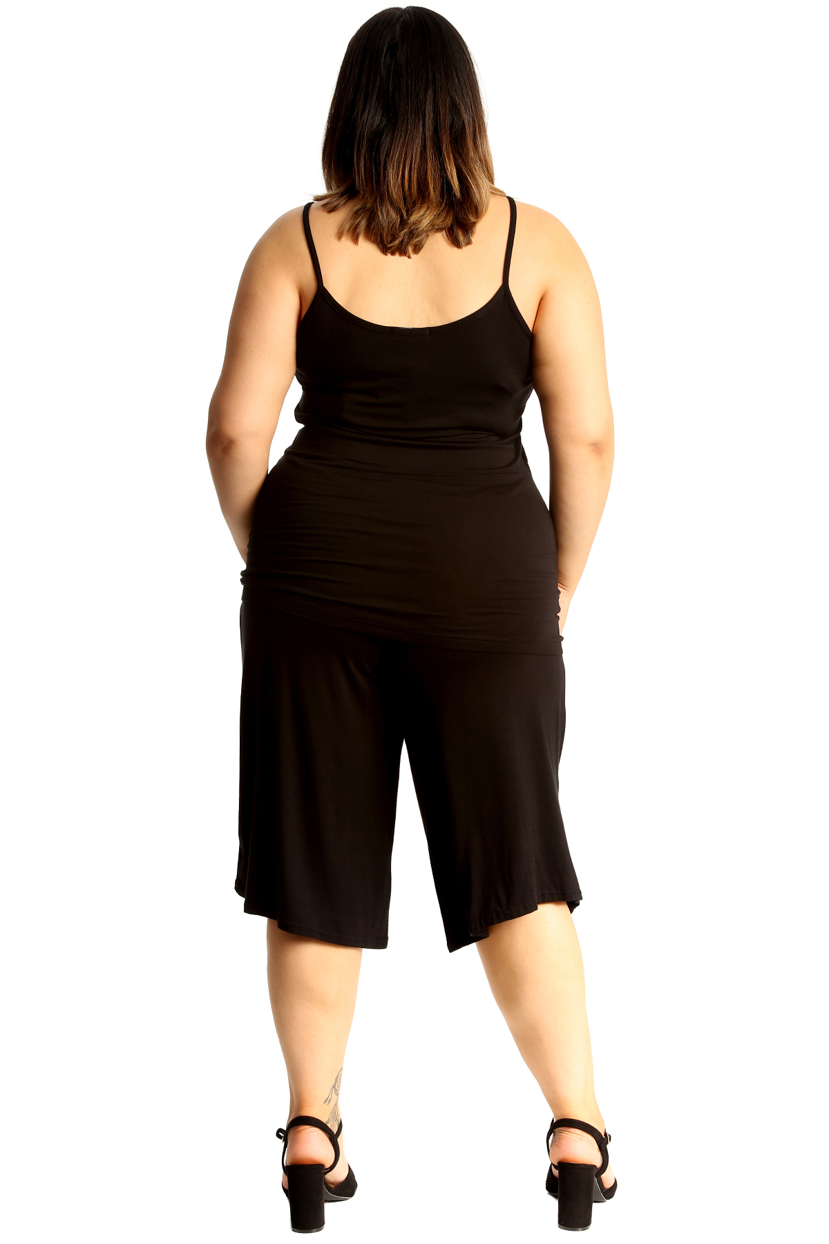 New-Womens-Plus-Size-Culottes-Ladies-Plain-Shorts-Palazzo-Elastic-Pants-Summer thumbnail 16