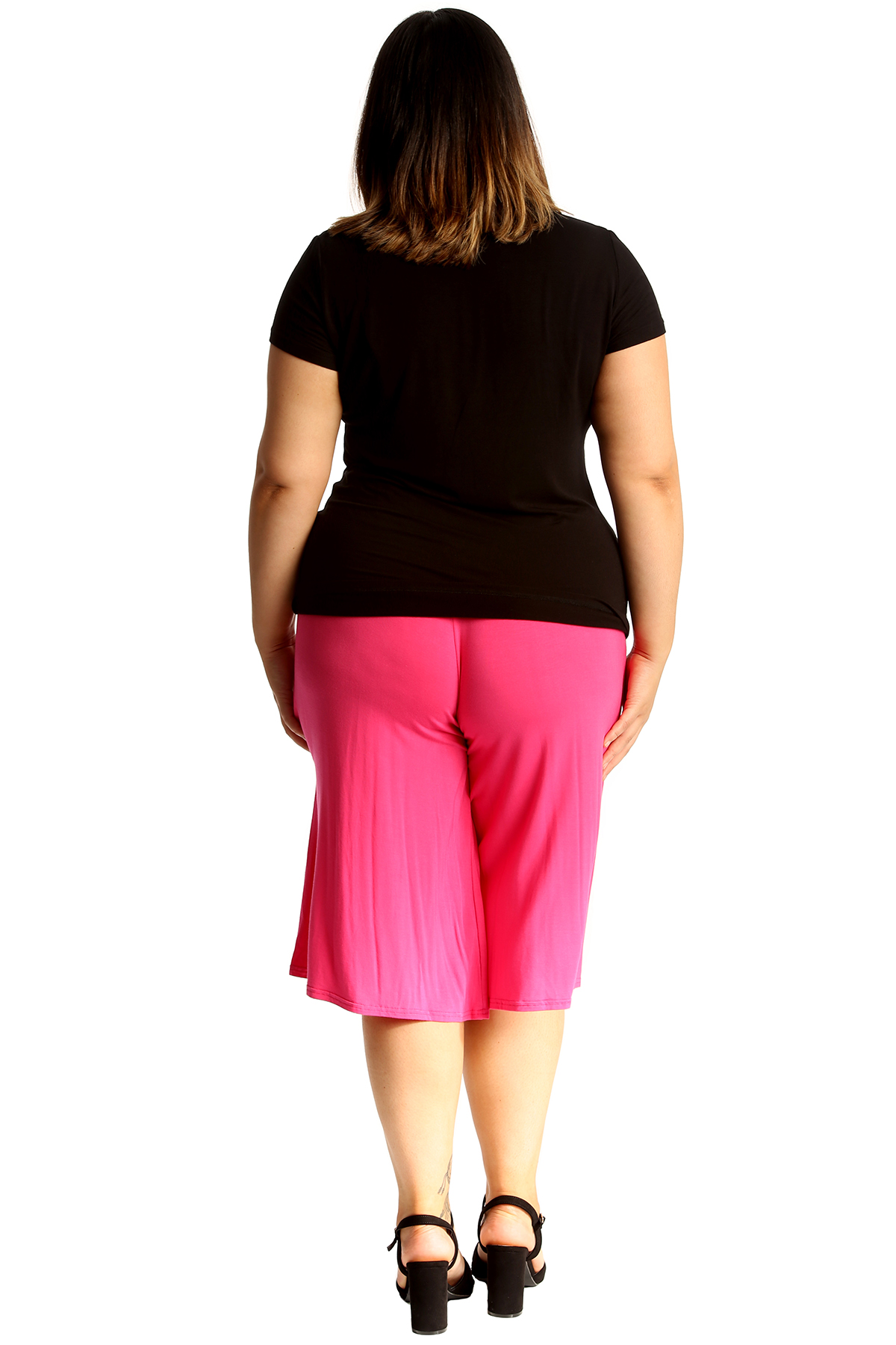 New-Womens-Plus-Size-Culottes-Ladies-Plain-Shorts-Palazzo-Elastic-Pants-Summer thumbnail 20