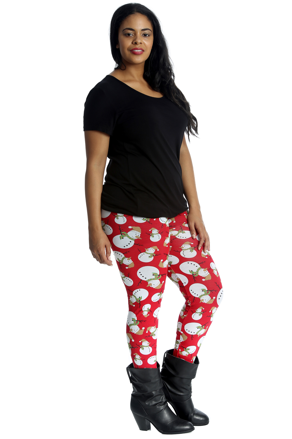 neue damen bergr en leggings schneemann frauen druck. Black Bedroom Furniture Sets. Home Design Ideas