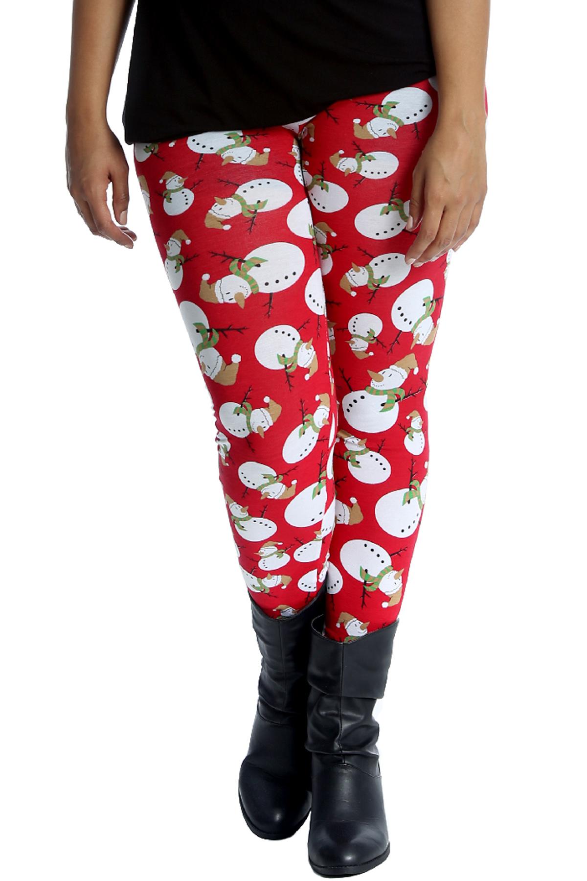 Plus Size Christmas Leggings.Details About New Womens Leggings Plus Size Christmas Ladies Snowman Print Party Xmas Nouvelle