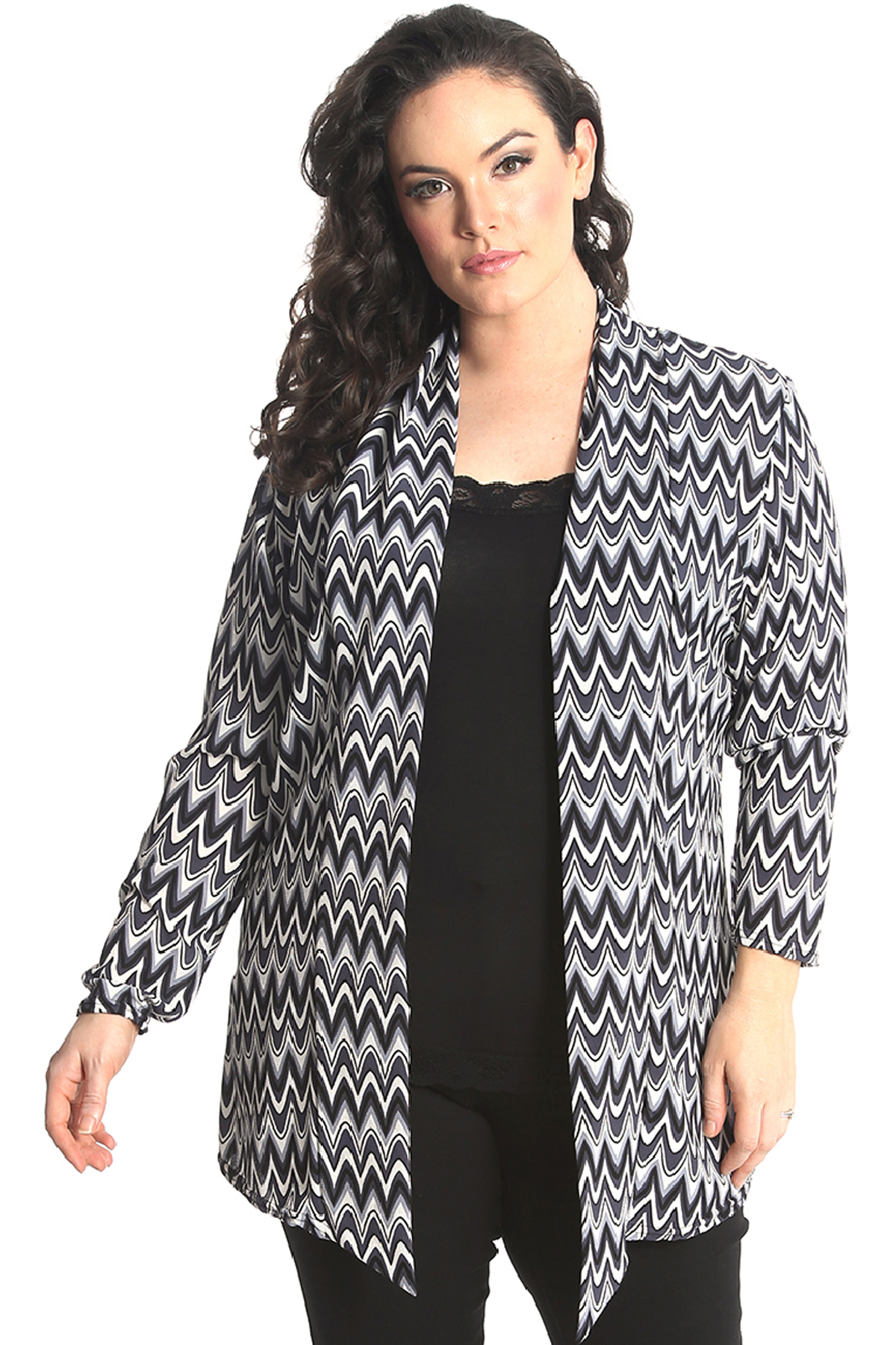 New Womens Plus Size Cardigan Ladies Open Front Jacket ...
