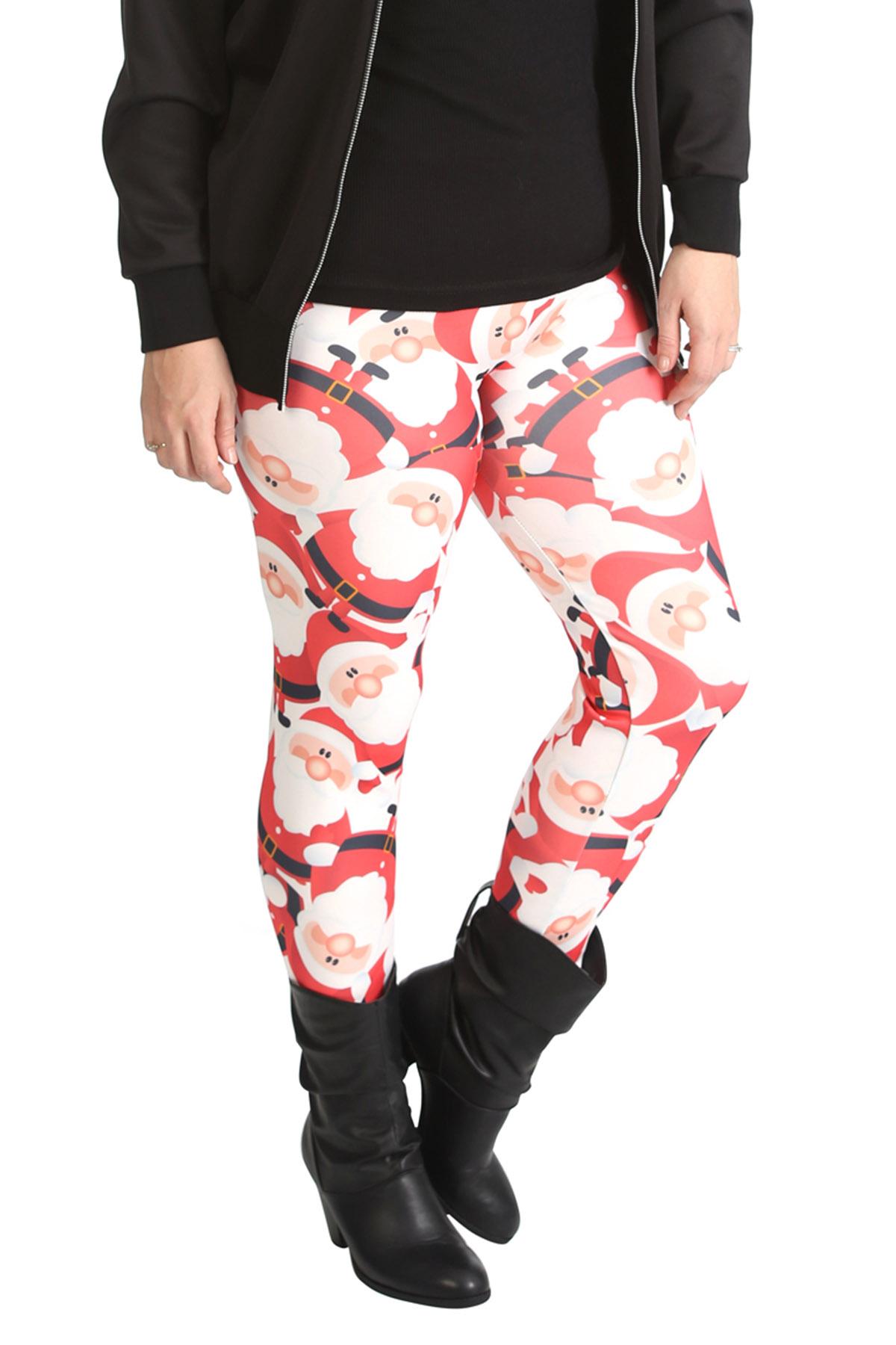 new ladies leggings plus size womens santa christmas