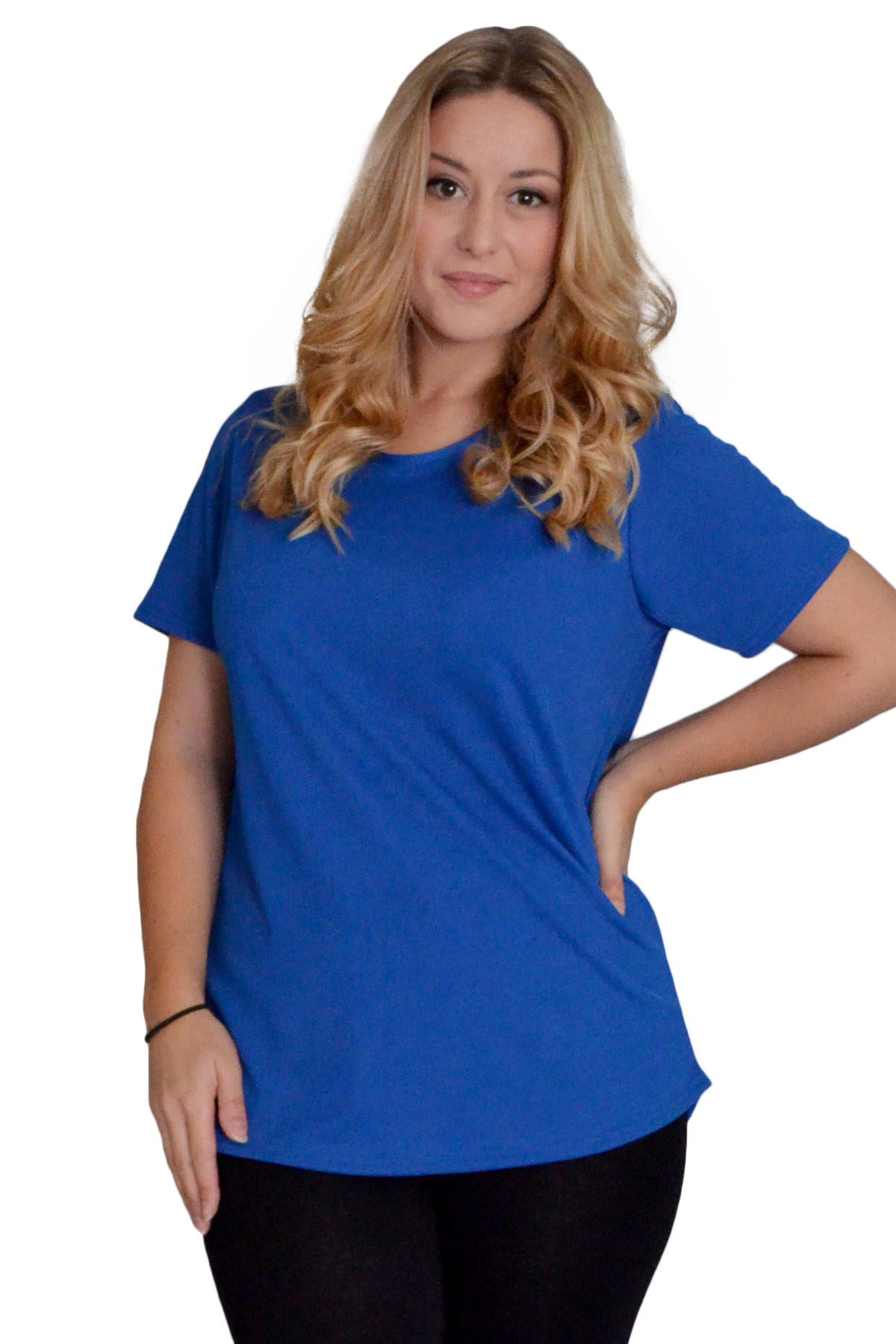 Womens Tops Ladies Plus Size Shirt DIP Hem Thick Warm Crepe Blouse ...