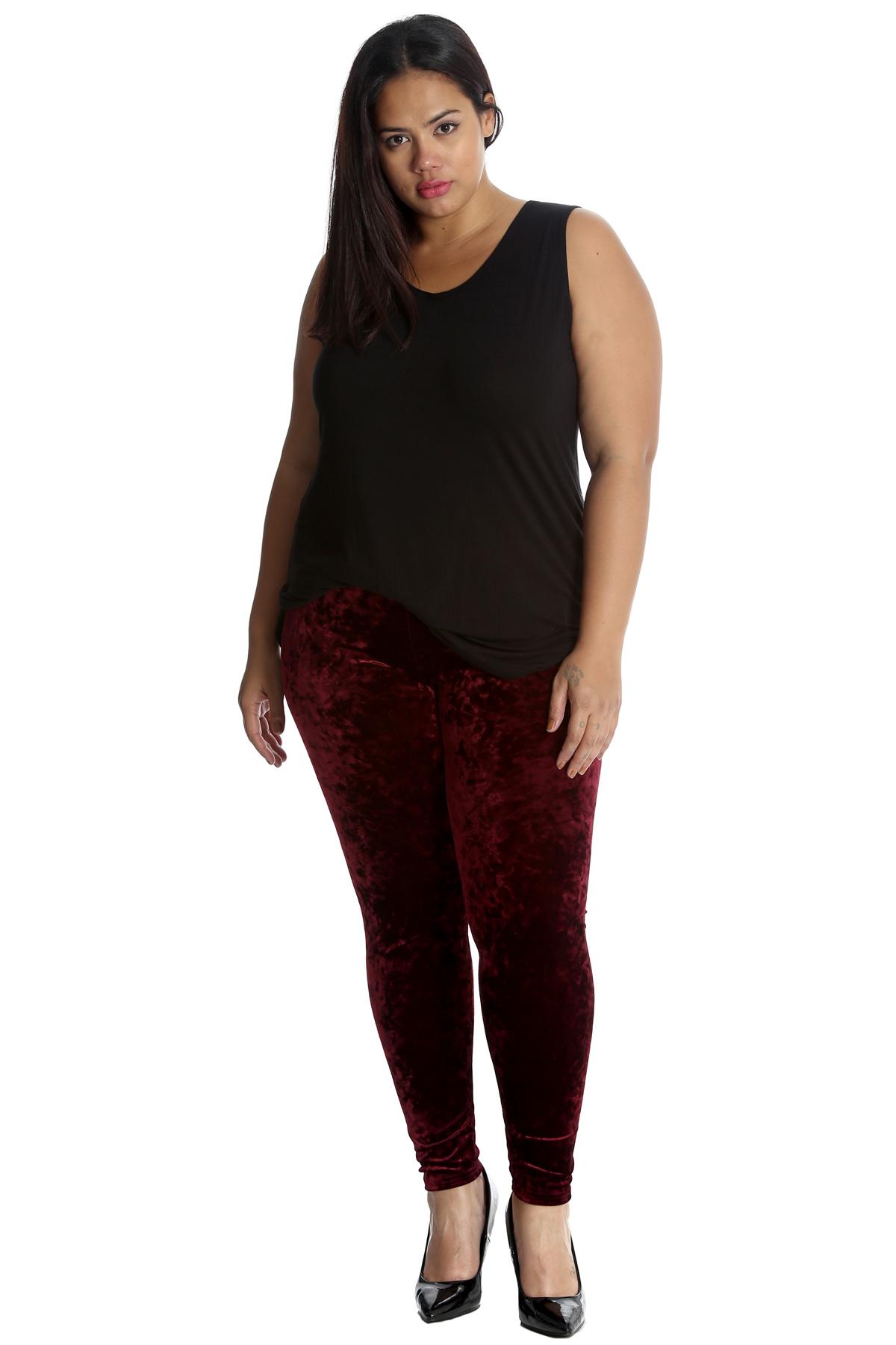 Nouveau-femmes-plus-taille-leggings-pour-femme-en-velours-pantalon-pleine-longueur-soft-nouvelle