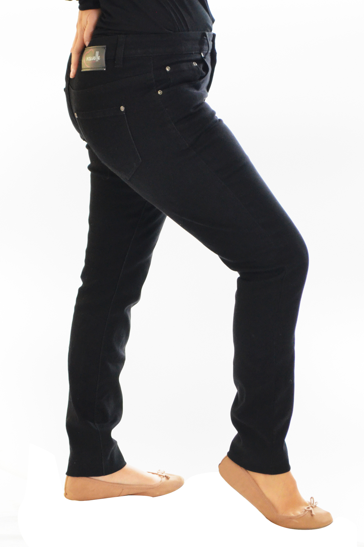 8ae03767149dc Details about New Womens Plus Size Jeans Ladies Black Trousers Straight Leg  Pockets Nouvelle