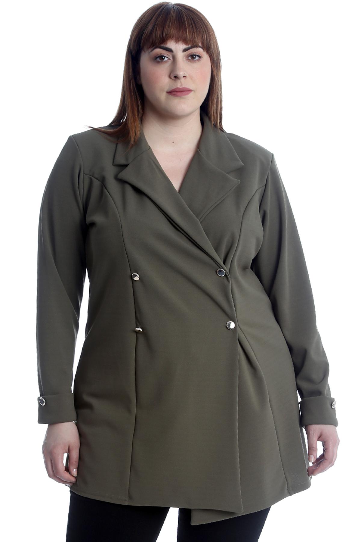 New Womens Plus Size Coat Ladies Blazer Jacket Formal ...