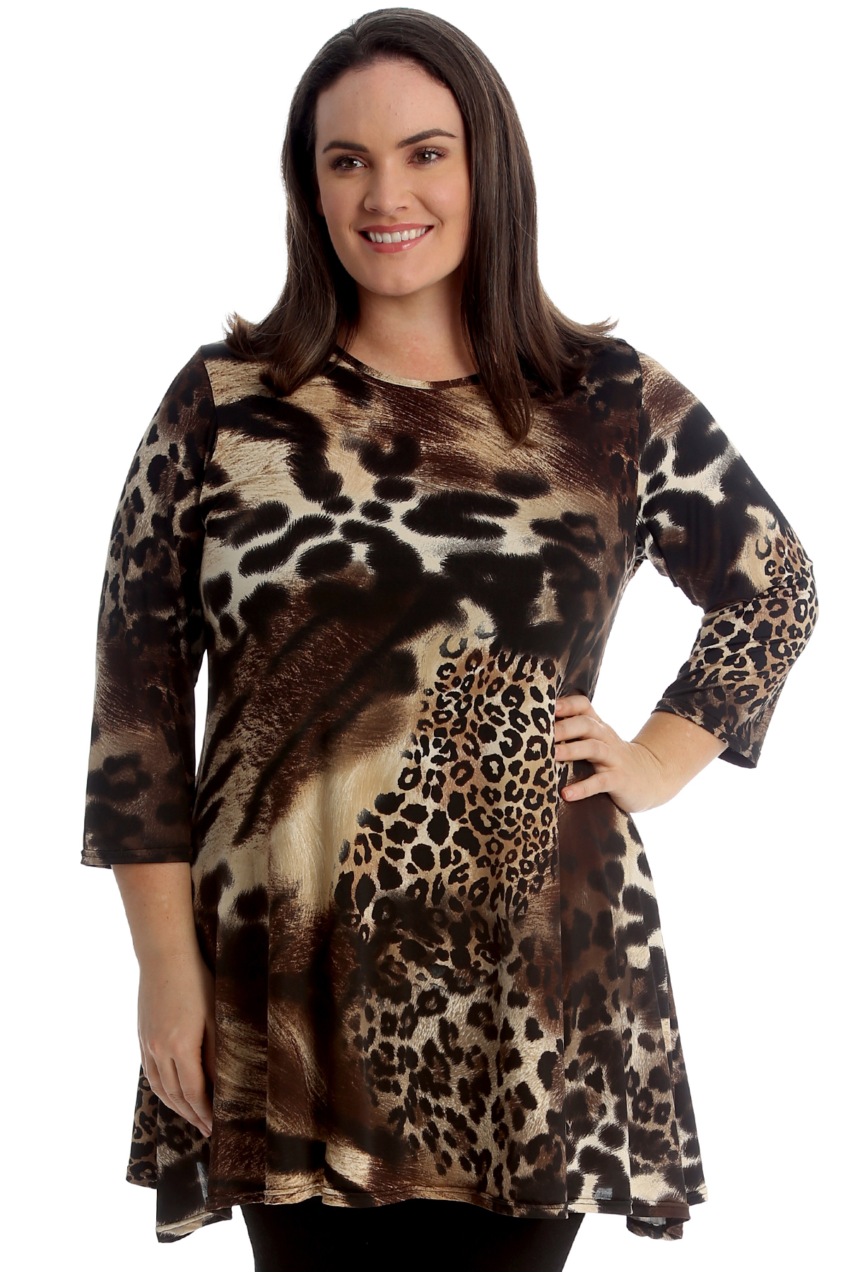 Evans ladies maxi dress shirt style plus size 14 16 18 20 22 animal tiger print