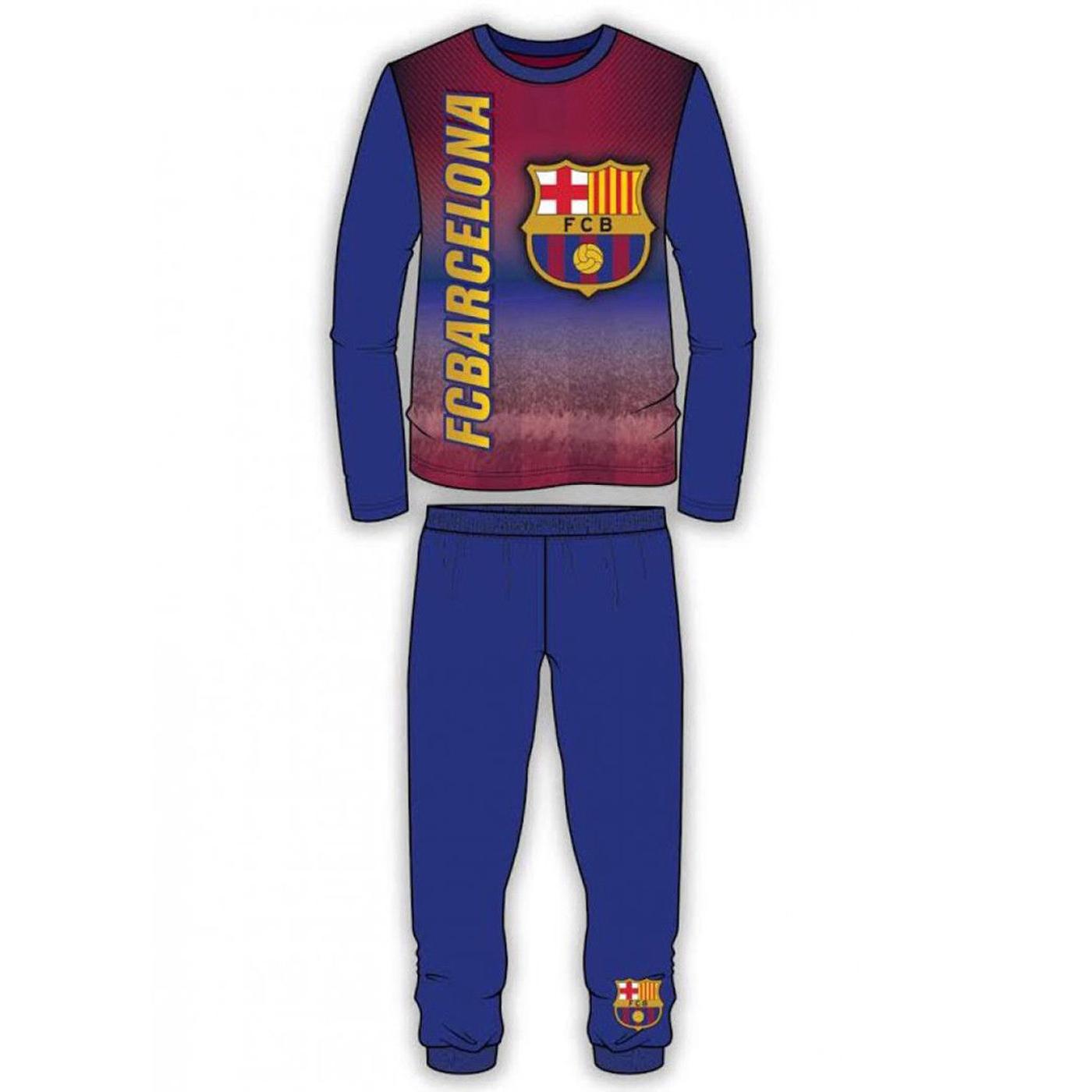 FC-Barcelone-Officiel-Enfants-Garcons-Pyjamas-Nightwear-Pyjama-Set-Pyjamas-Sleepwear-FCB