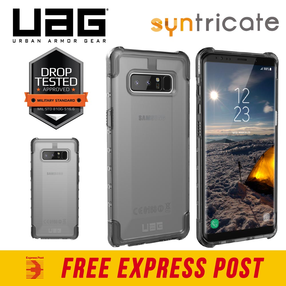 3d759cbd6 Details about UAG PLYO RUGGED ARMOR SHELL CASE FOR GALAXY NOTE 8 - ICE