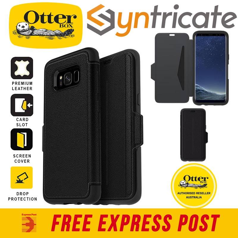 outlet store 7f8a7 9f387 Details about OTTERBOX STRADA PREMIUM LEATHER FOLIO CASE SAMSUNG GALAXY S8+  (6.2 inch) - BLACK