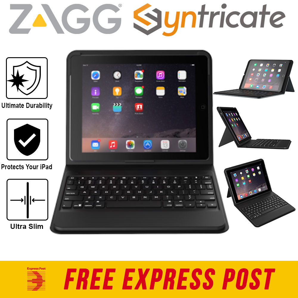 Details about ZAGG Messenger Folio Bluetooth Slim Keyboard Case for iPad  Pro 9 7 / Air 2 / Air