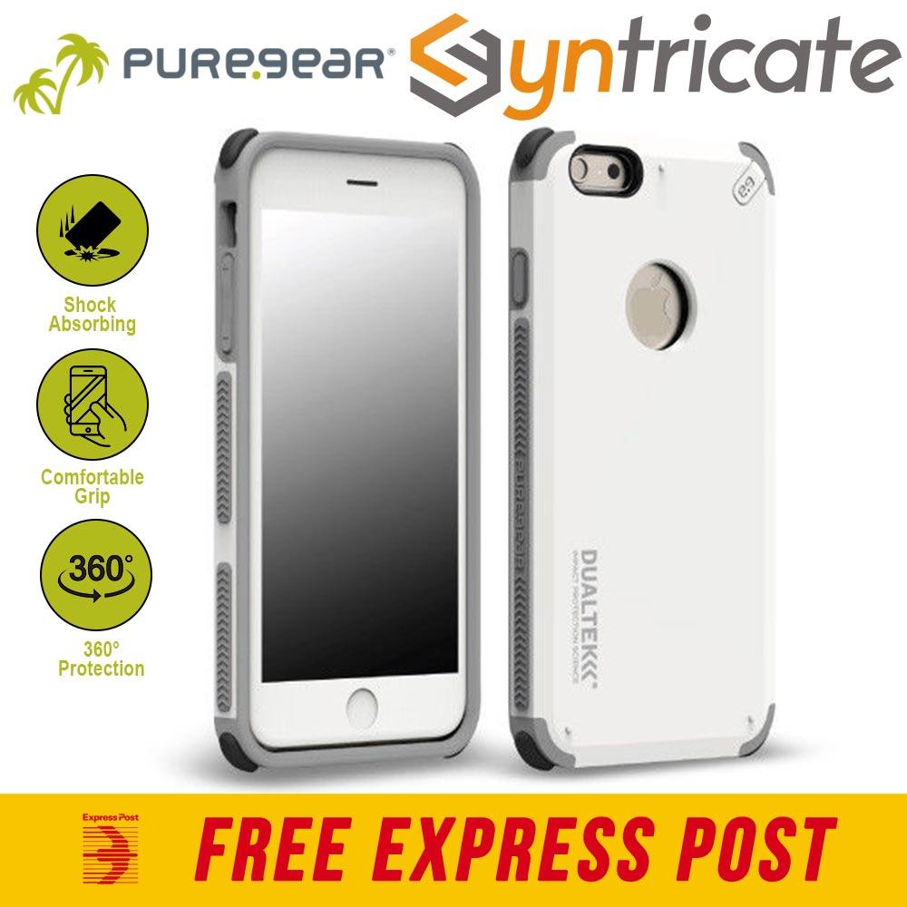 online store 4053d 01bd4 Details about PureGear DualTek Extreme Impact Case for iPhone 6S Plus/6  Plus- Artic White
