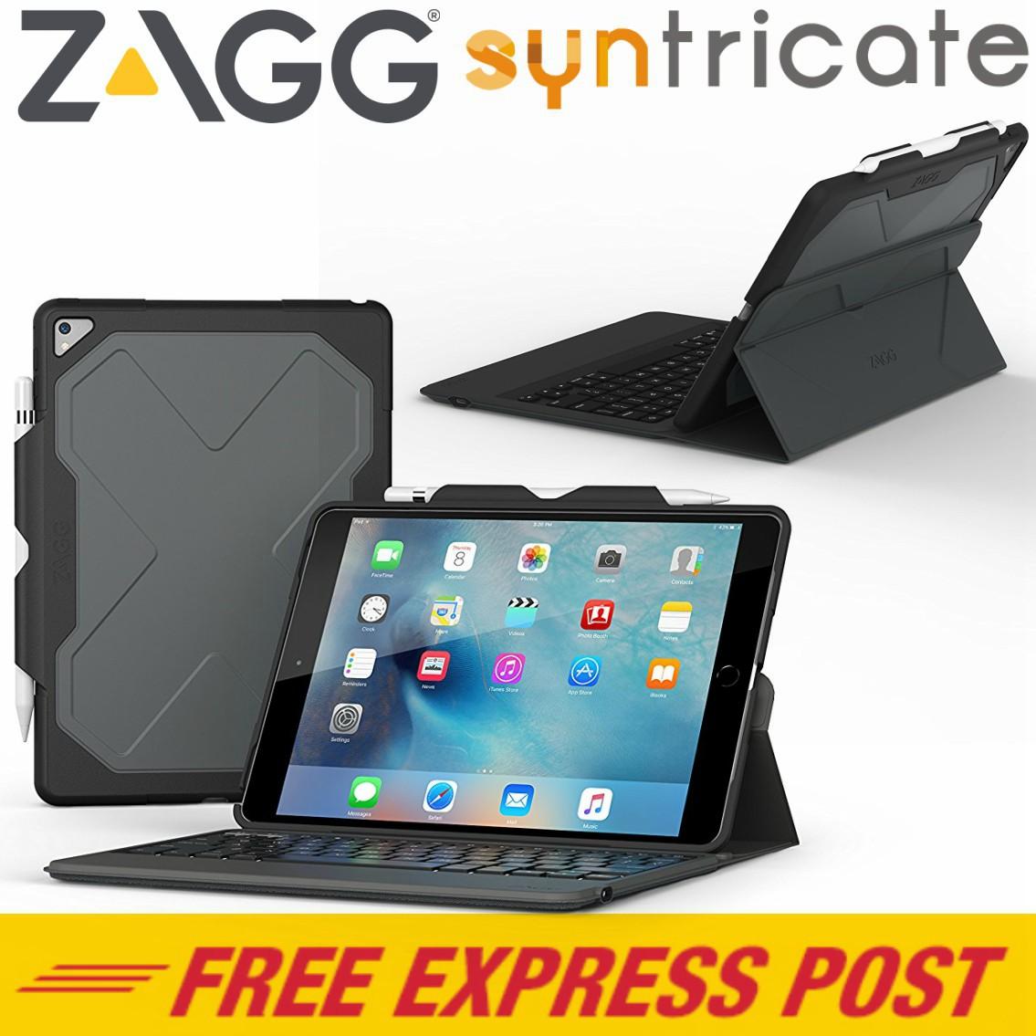 Zagg Rugged Messenger Folio Backlit Keyboard Case For Ipad Pro 10 5 Inch Black
