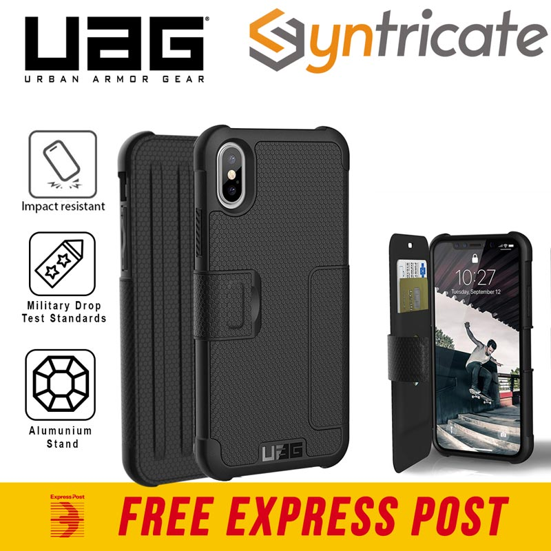 Details about iPhone Xs Max (6.5 Inch) UAG Metropolis Card Folio Wallet Case Black