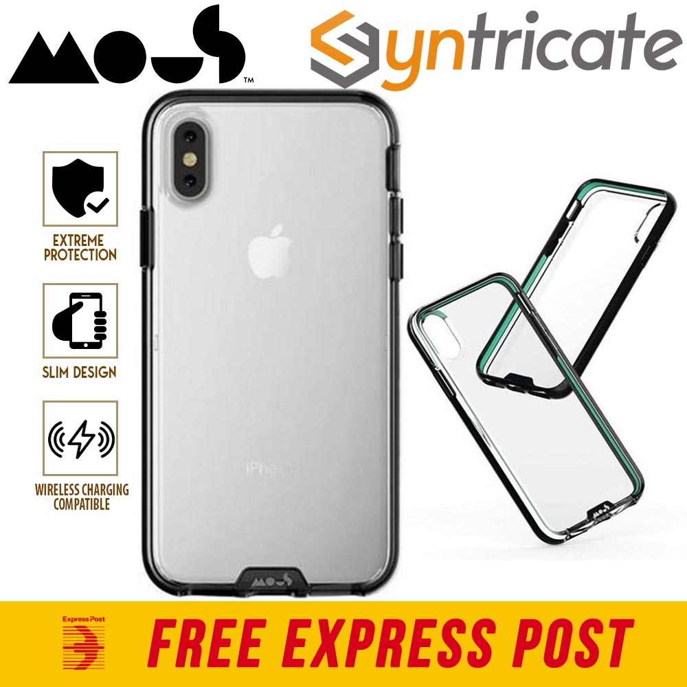 buy popular 044b9 cc187 Details about MOUS CLARITY AIROSHOCK SLIM TOUGH CASE FOR IPHONE XS/X - CLEAR