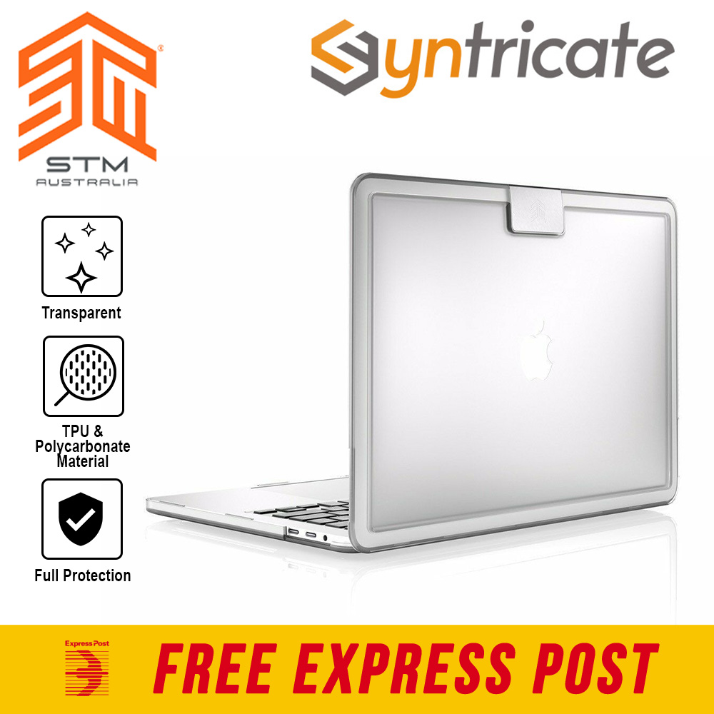 size 40 fead5 cb364 Details about STM HYNT CASE FOR MACBOOK PRO 13 INCH (USB-C) THUNDERBOLT &  W/TOUCH BAR - CLEAR