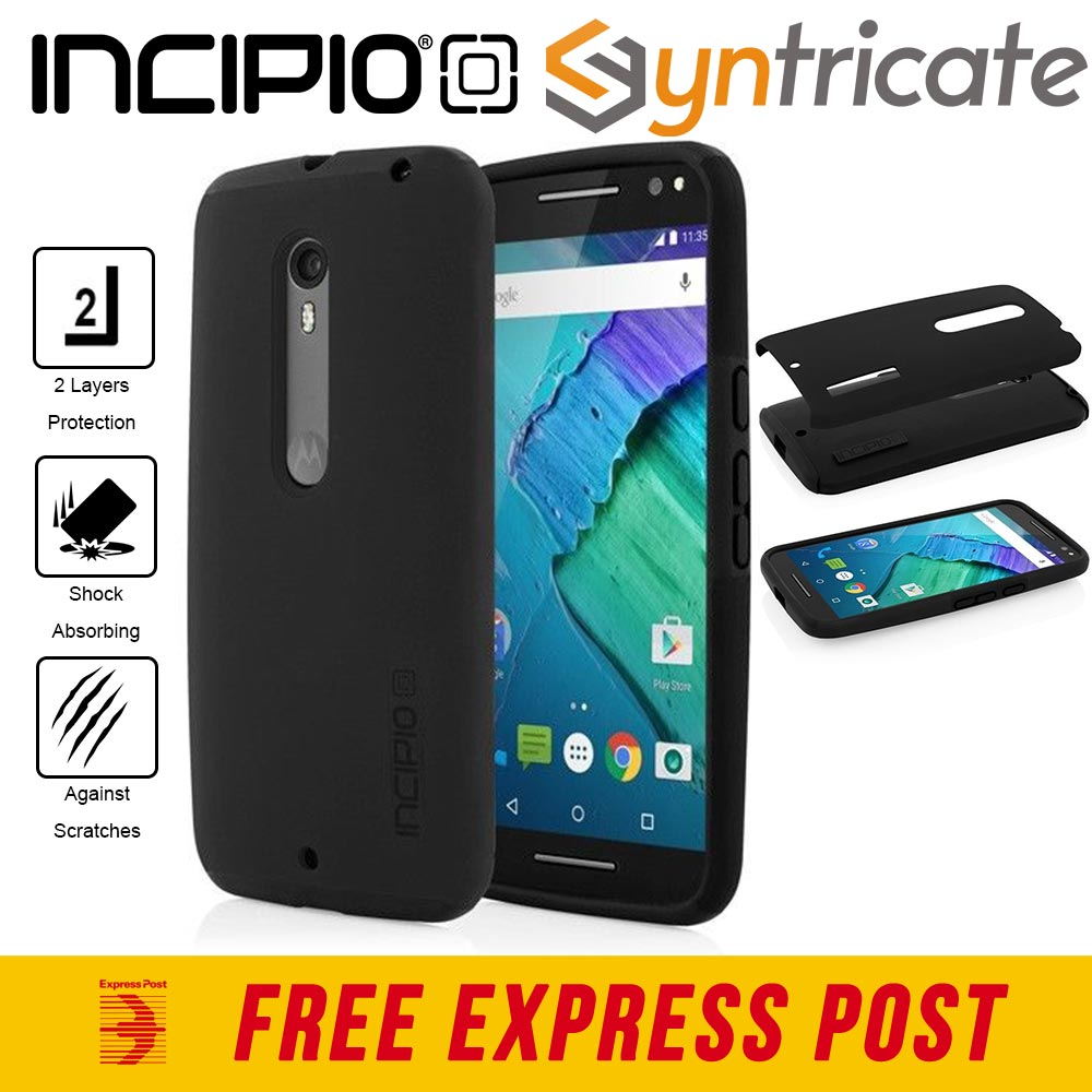 new arrival 3bc9b 58d6c Details about GENUINE Incipio DualPro Rugged Slim case for Moto X Style/X  Pure Edition-Black