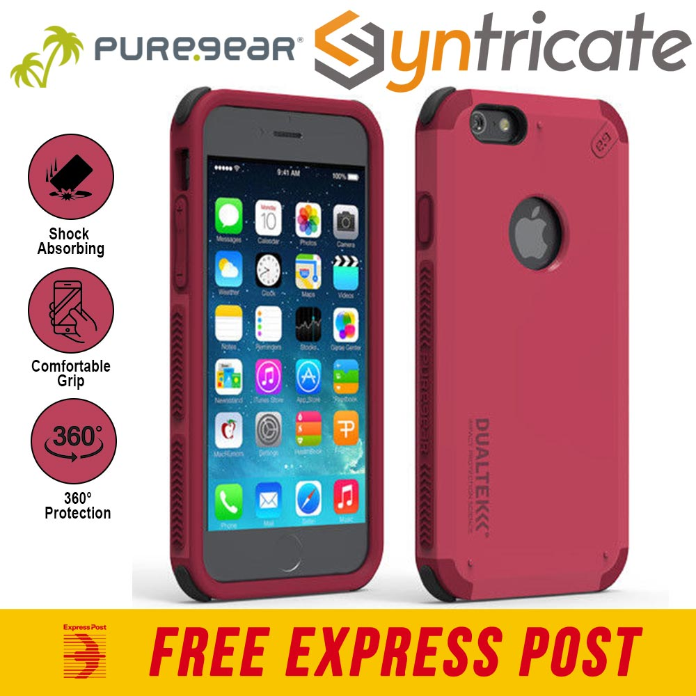 new photos 1d4e5 67321 Details about PureGear DualTek Extreme Impact Case for iPhone 6S IPHONE 6-  Radiant Pink
