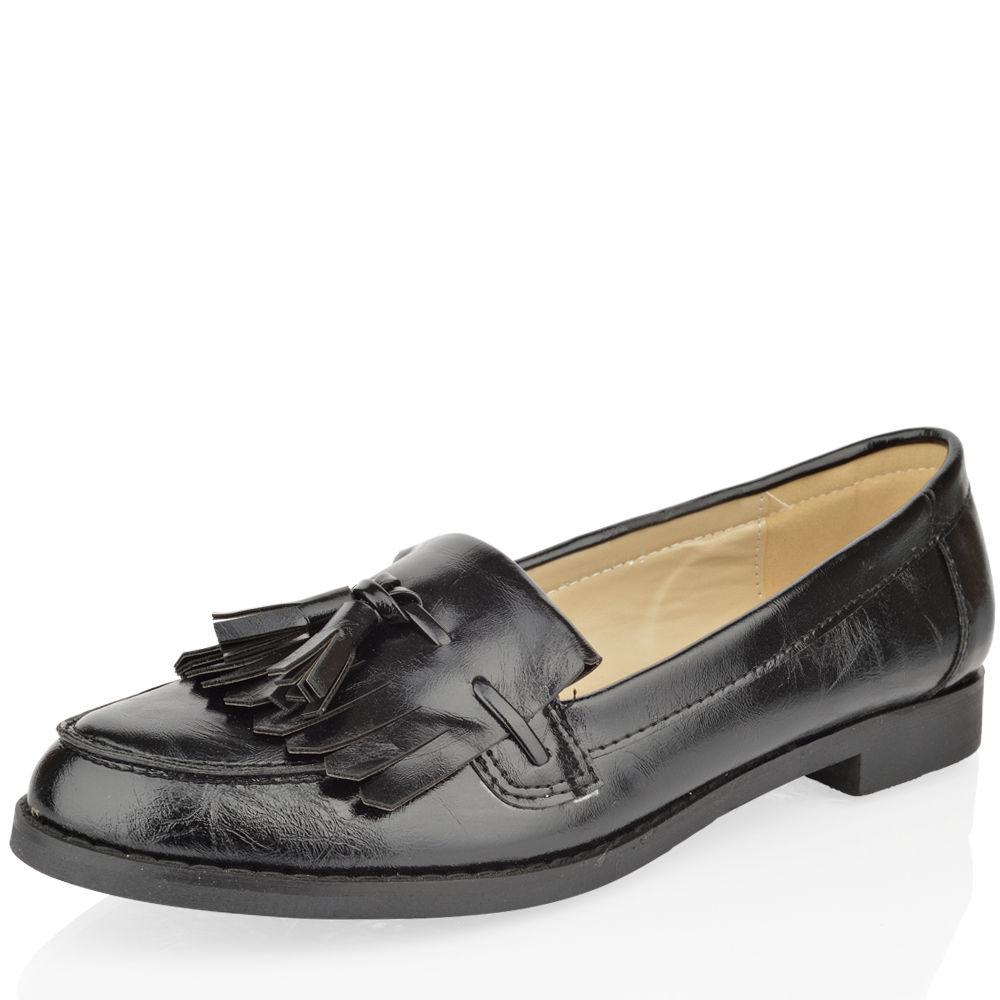 Womens Tassel Black Shoes