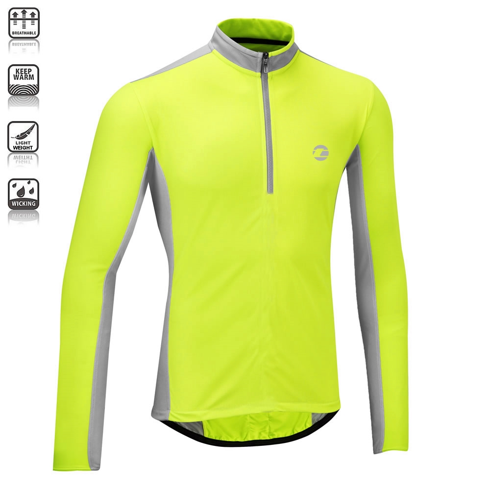 Tenn Mens Coolflo Breathable Long Sleeve Cycling Jersey | eBay