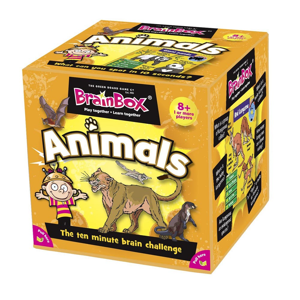Dinosaurs Mdf Toy Box Childrens Storage Toys Games Books: Brainbox Card Games Choose Your Brain Box Game
