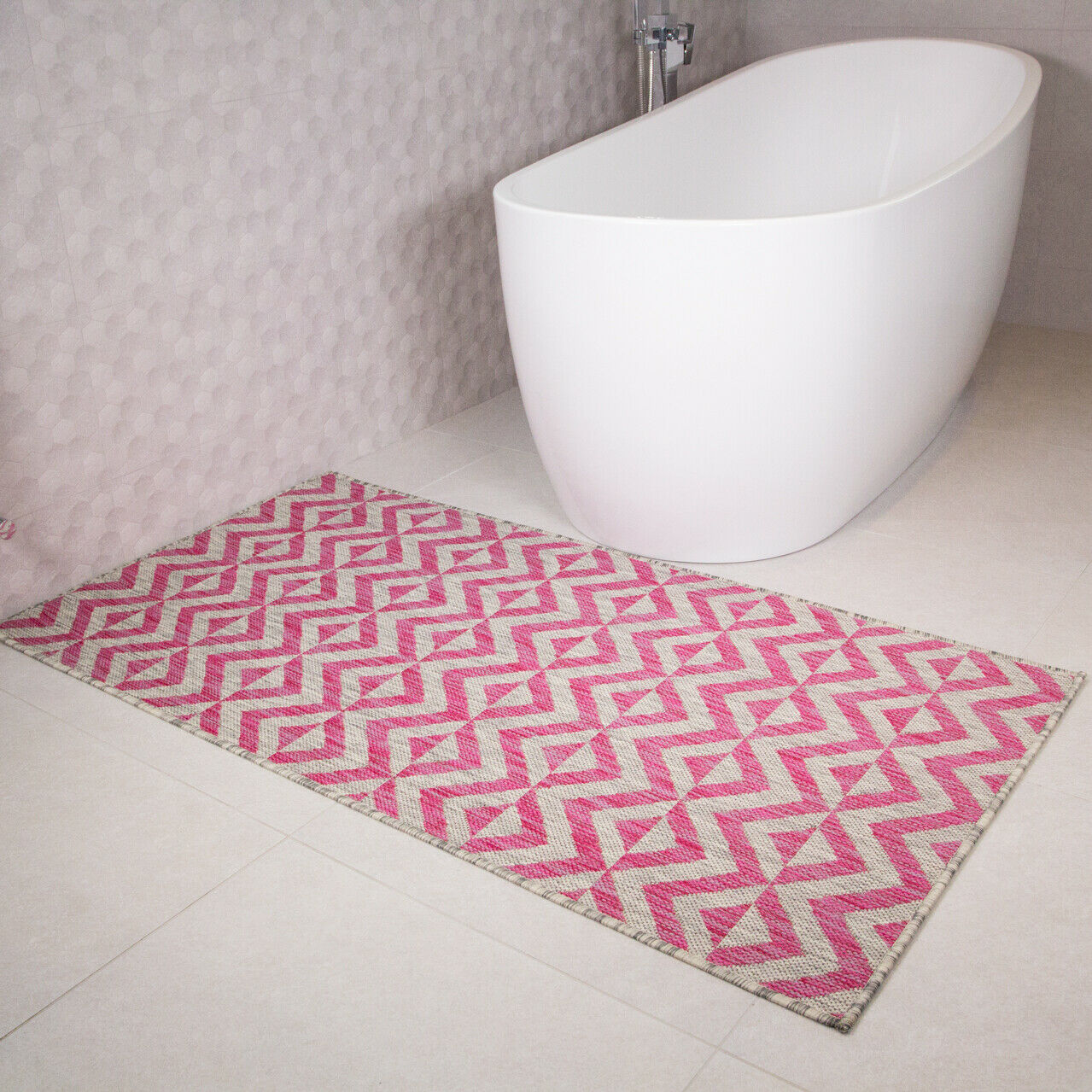 7080aa6bbd Details about Cosy Fluffy Thick Blush Pink Shaggy Rugs Rose Quartz Coral  Cheap Geometric Rug