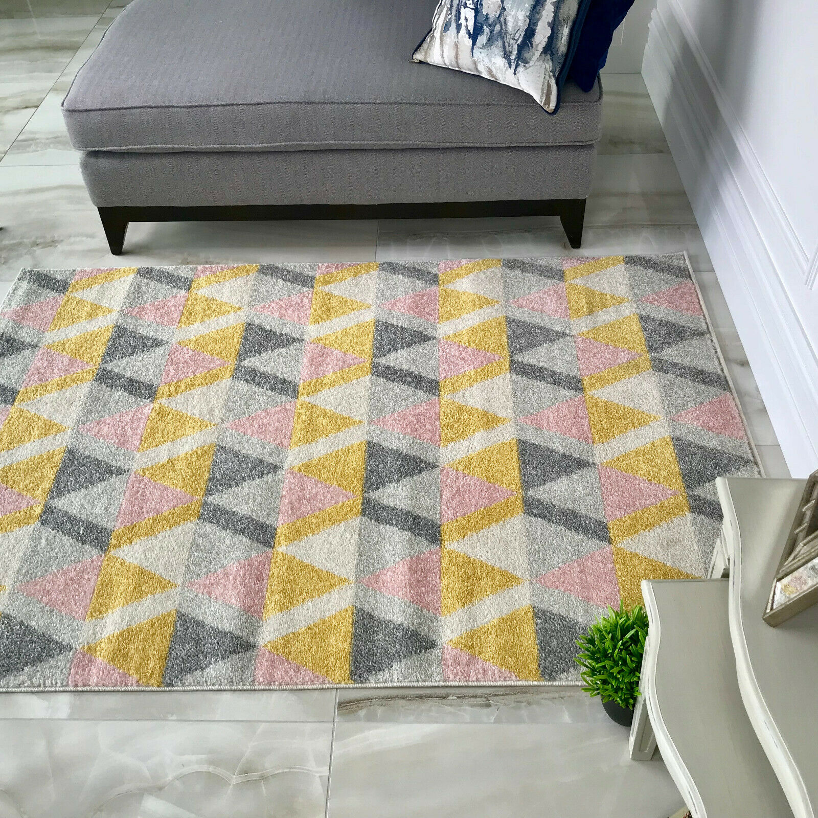 Modern Geometric Living Room Rugs & Long Hallway Runners ...