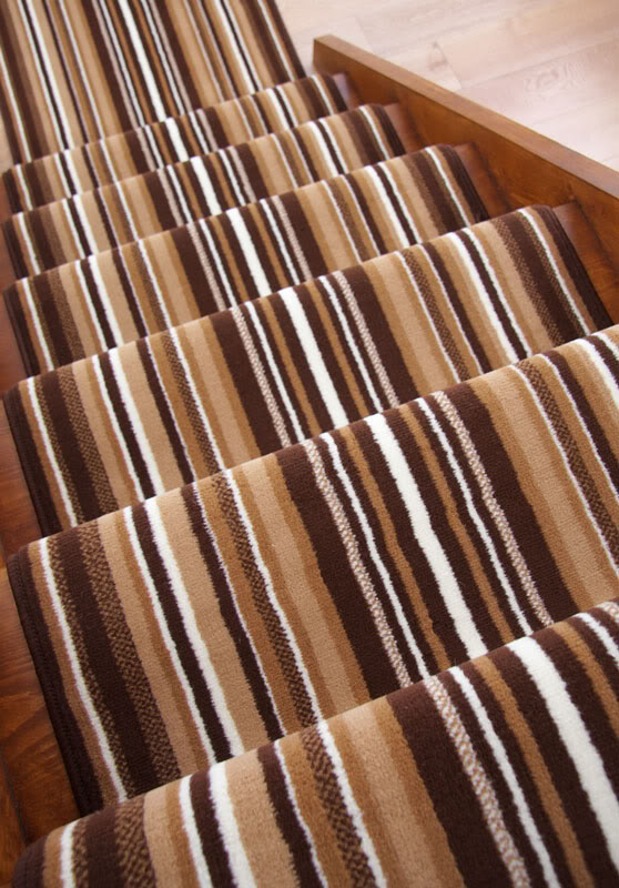 Striped Long Cut To Measure Any Length Stair Carpet Runner