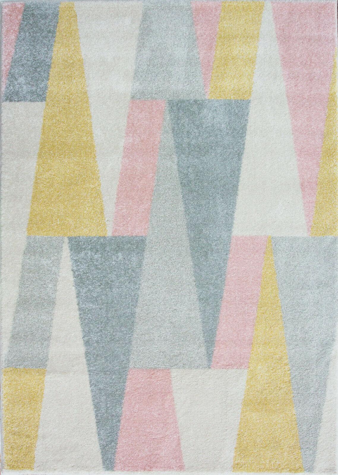 New Blush Pink Beige Silver Grey Modern Geometric Design ...
