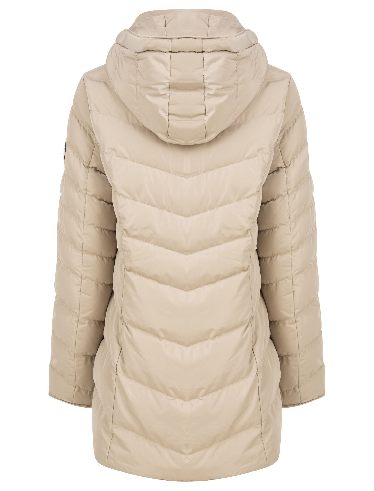 Women/'s Tokyo Laundry Jaboris Longline Quilted Puffer Jacket in Cream