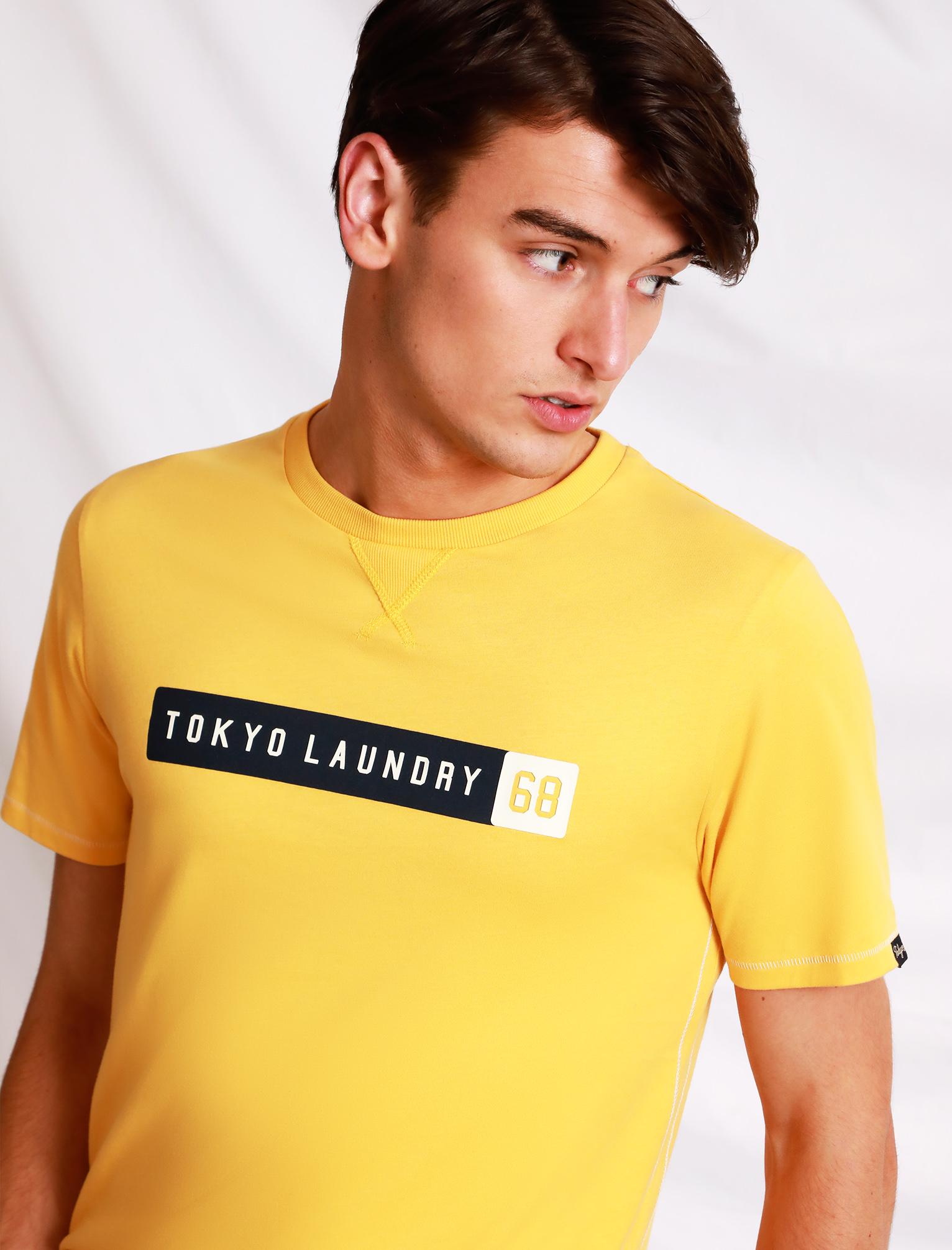 Tokyo Laundry Homme Burnout T-shirt graphique San Fran Rétro Vintage Haut à encolure ras-du-cou