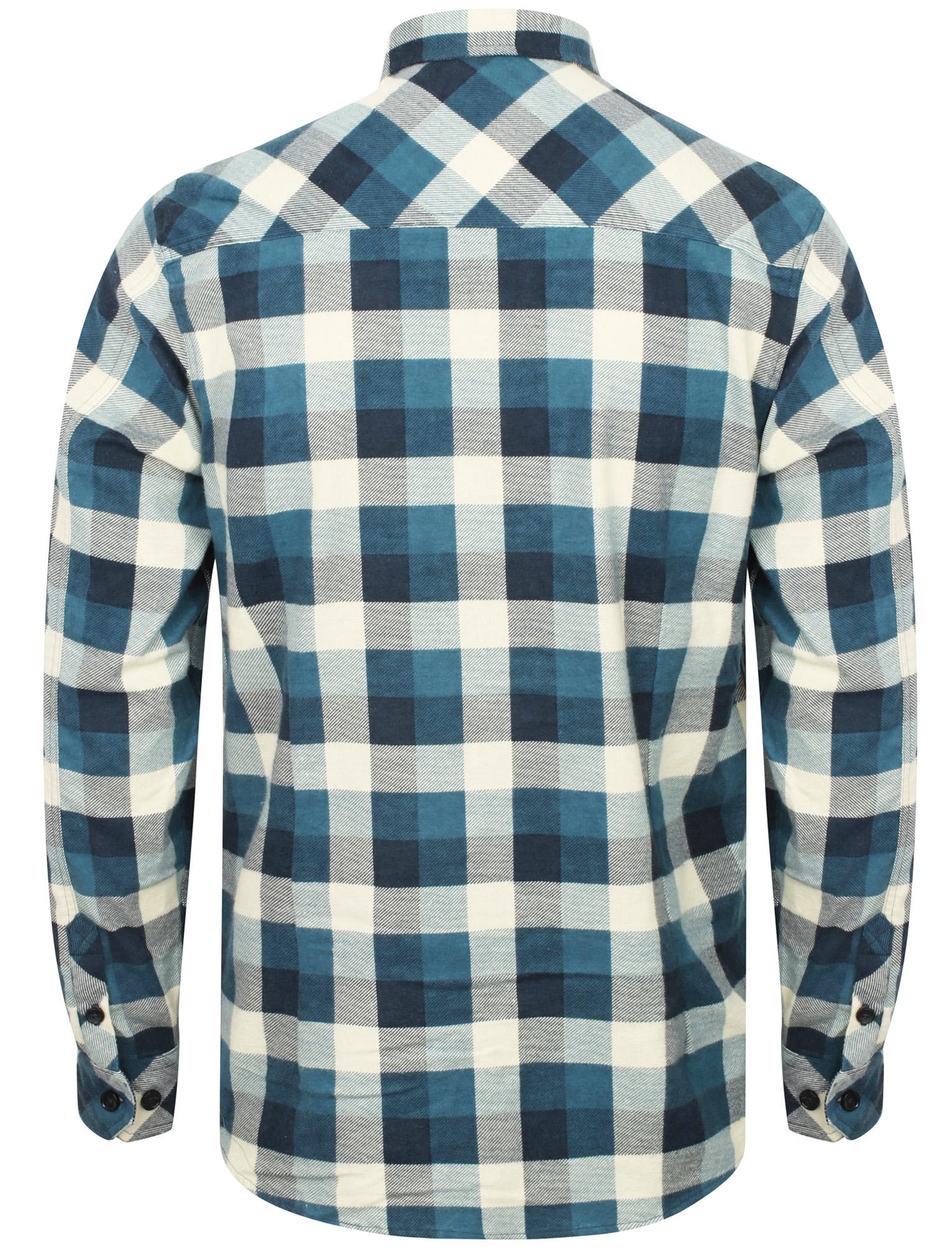 1deb99e7c7 Mens Tokyo Laundry Branded Cotton Rich Long Sleeve Checked Shirt ...